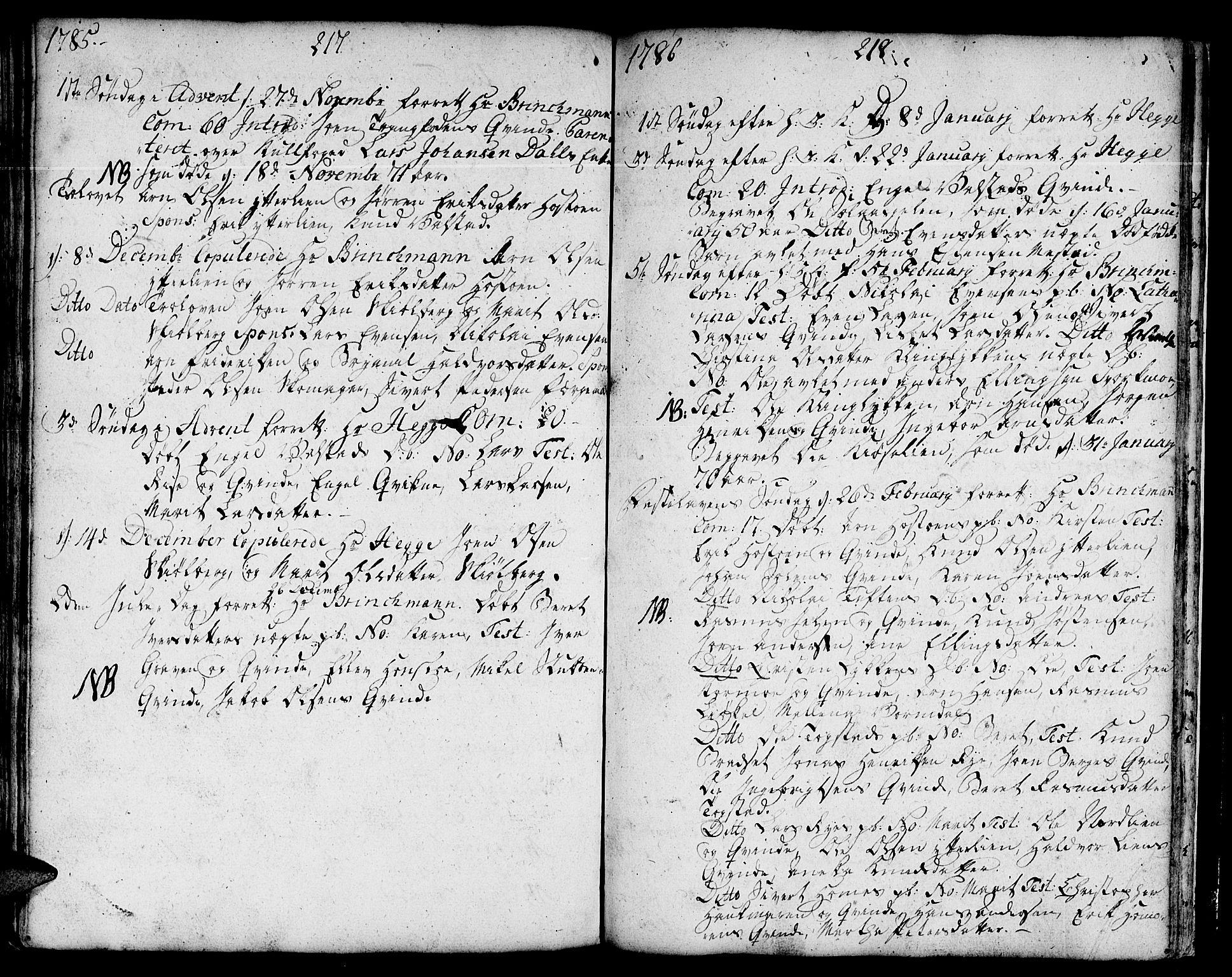 SAT, Ministerialprotokoller, klokkerbøker og fødselsregistre - Sør-Trøndelag, 671/L0840: Ministerialbok nr. 671A02, 1756-1794, s. 317-318