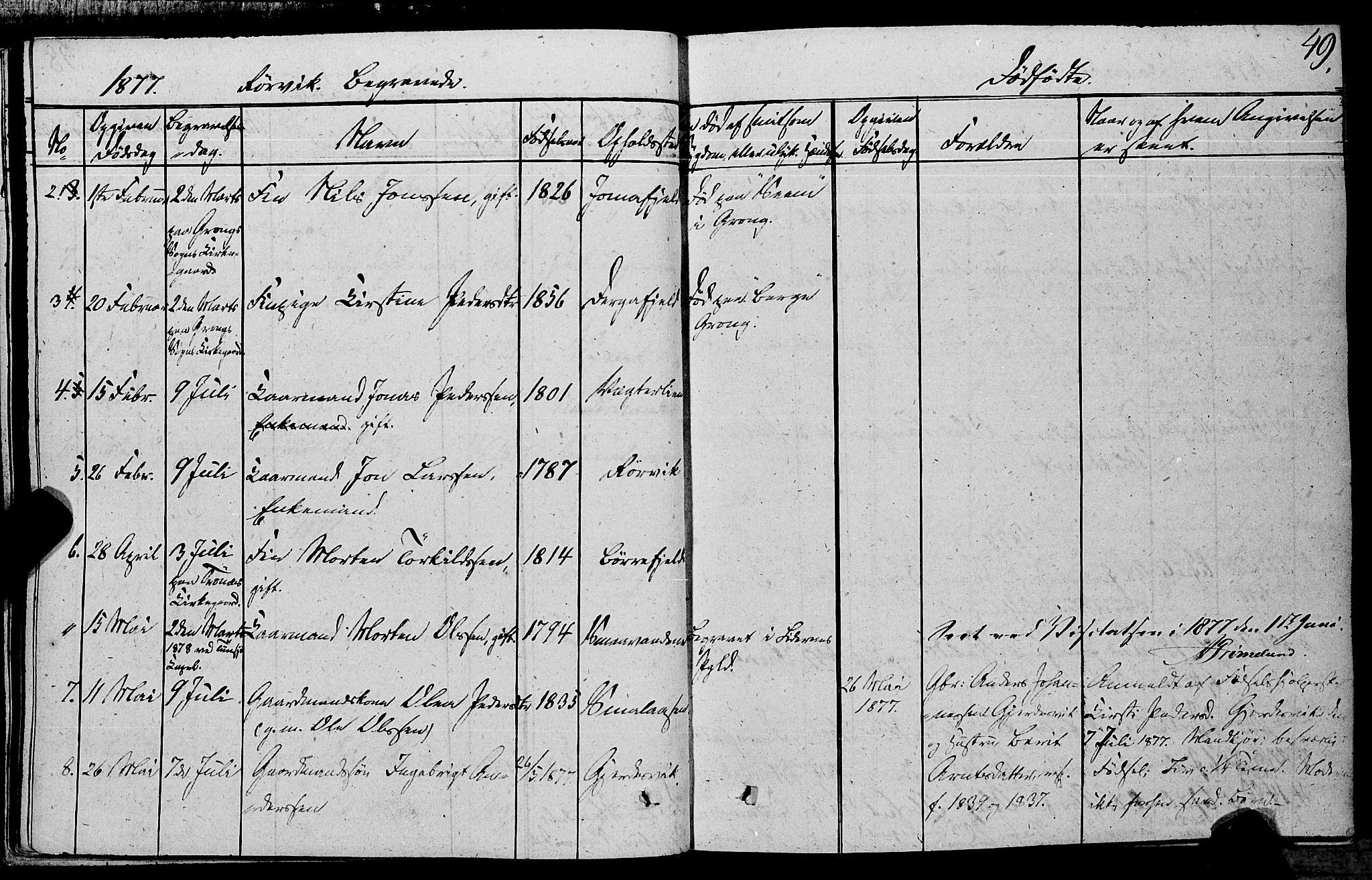SAT, Ministerialprotokoller, klokkerbøker og fødselsregistre - Nord-Trøndelag, 762/L0538: Ministerialbok nr. 762A02 /1, 1833-1879, s. 49