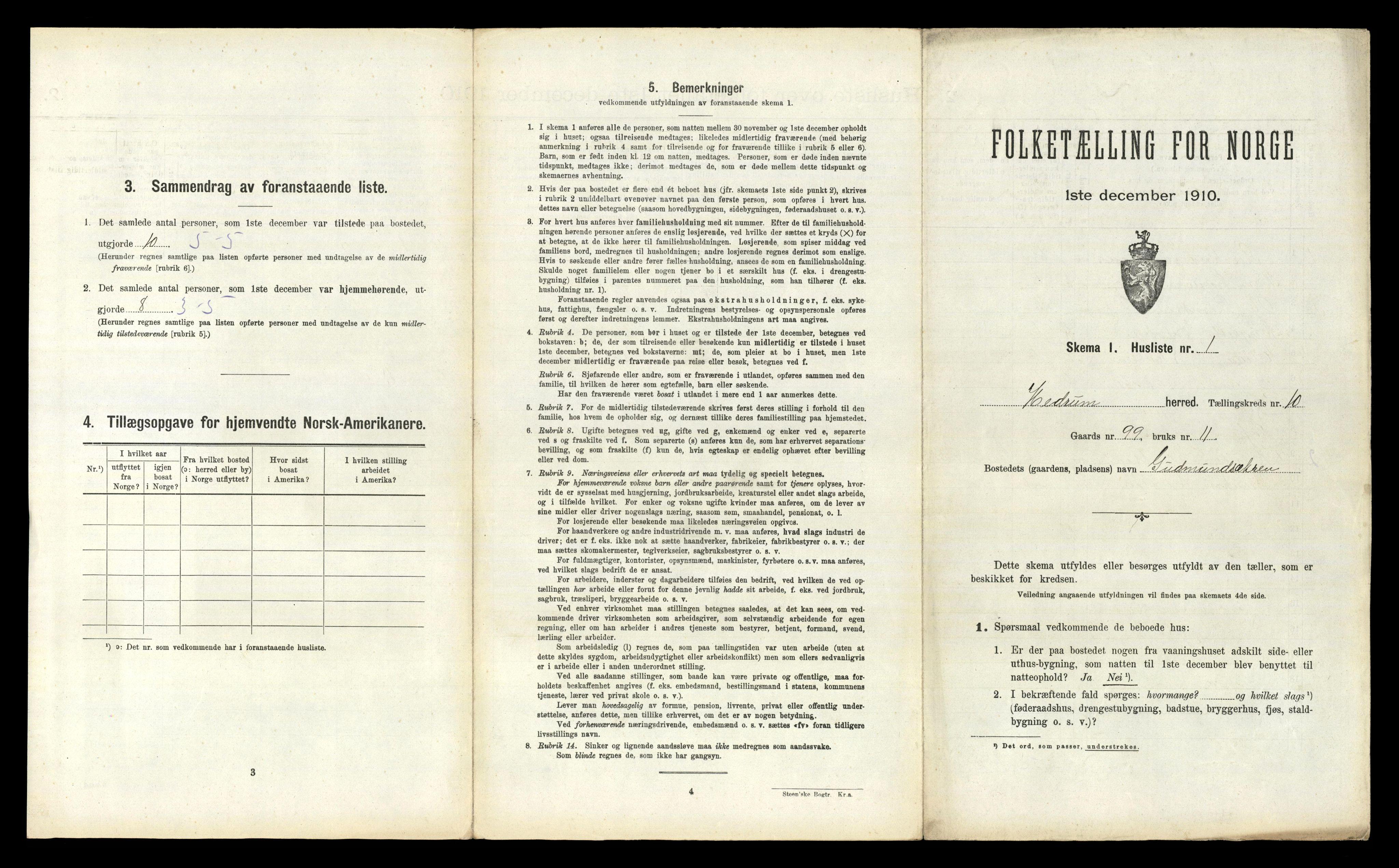 RA, Folketelling 1910 for 0727 Hedrum herred, 1910, s. 1028
