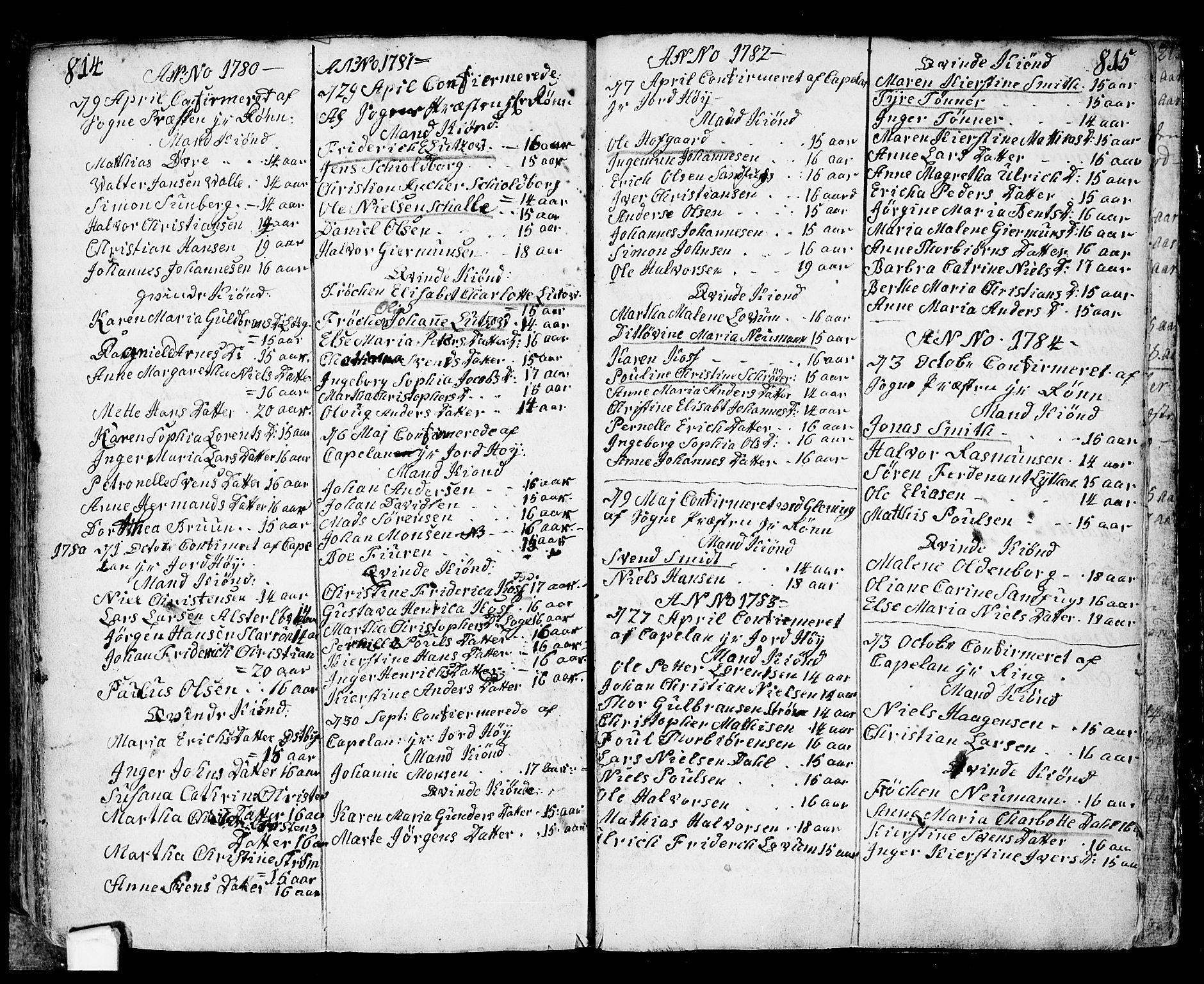 SAO, Fredrikstad prestekontor Kirkebøker, F/Fa/L0002: Ministerialbok nr. 2, 1750-1804, s. 814-815