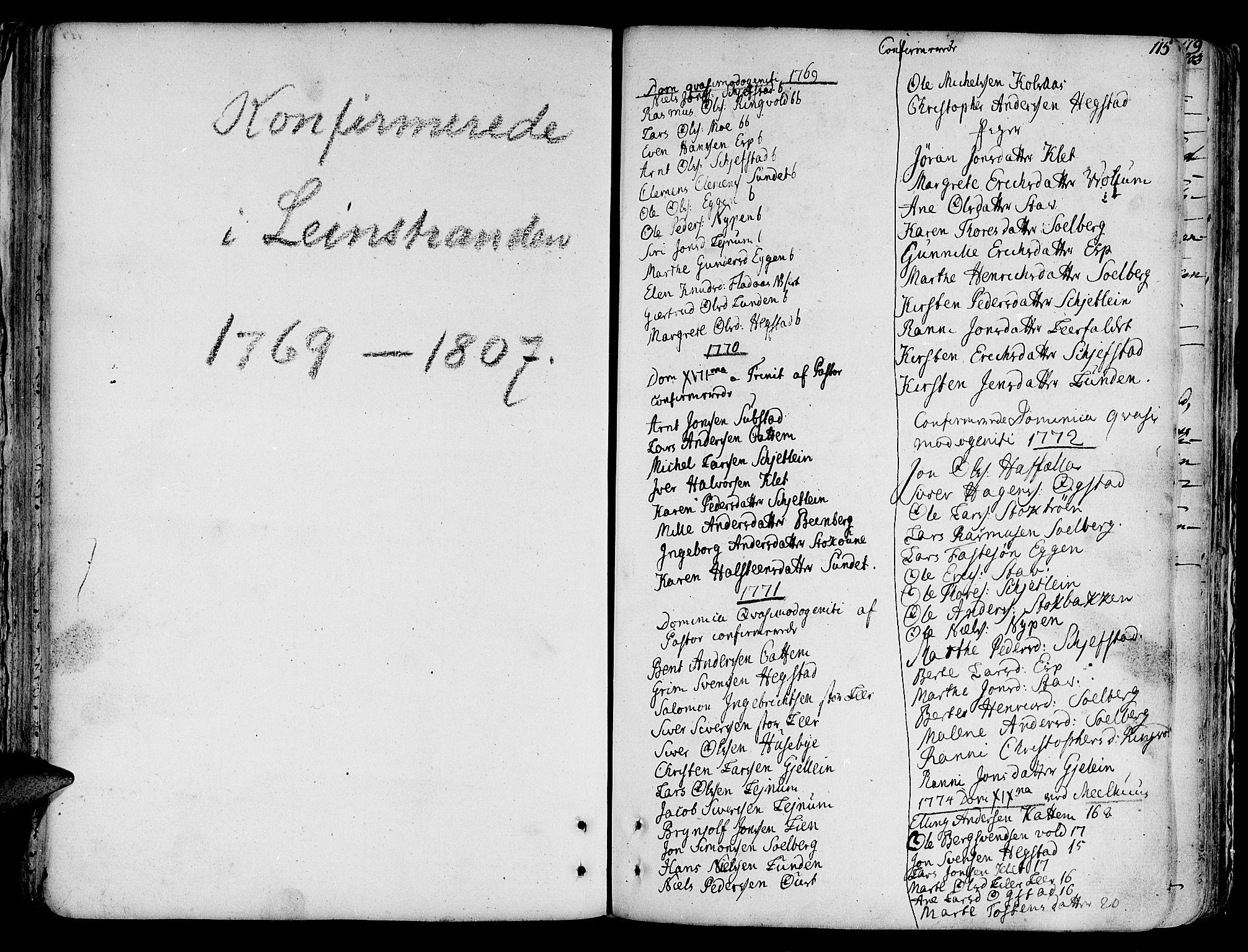 SAT, Ministerialprotokoller, klokkerbøker og fødselsregistre - Sør-Trøndelag, 691/L1063: Ministerialbok nr. 691A02 /3, 1768-1815, s. 115