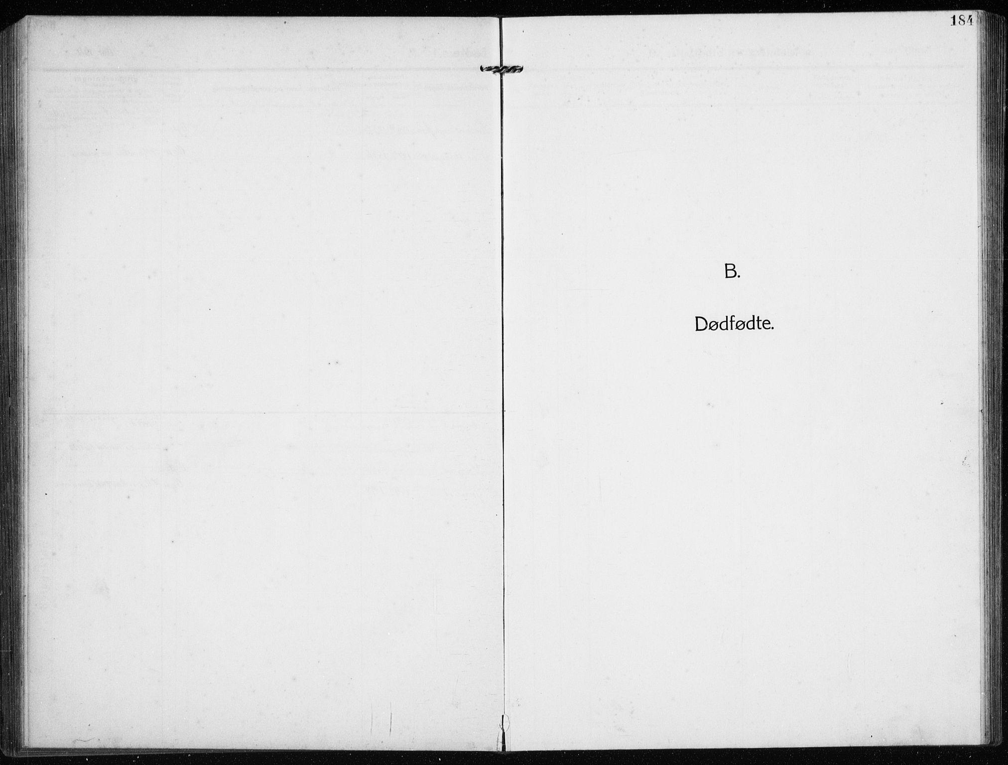 SAST, Time sokneprestkontor, 30BB/L0001: Klokkerbok nr. B 1, 1910-1932, s. 184
