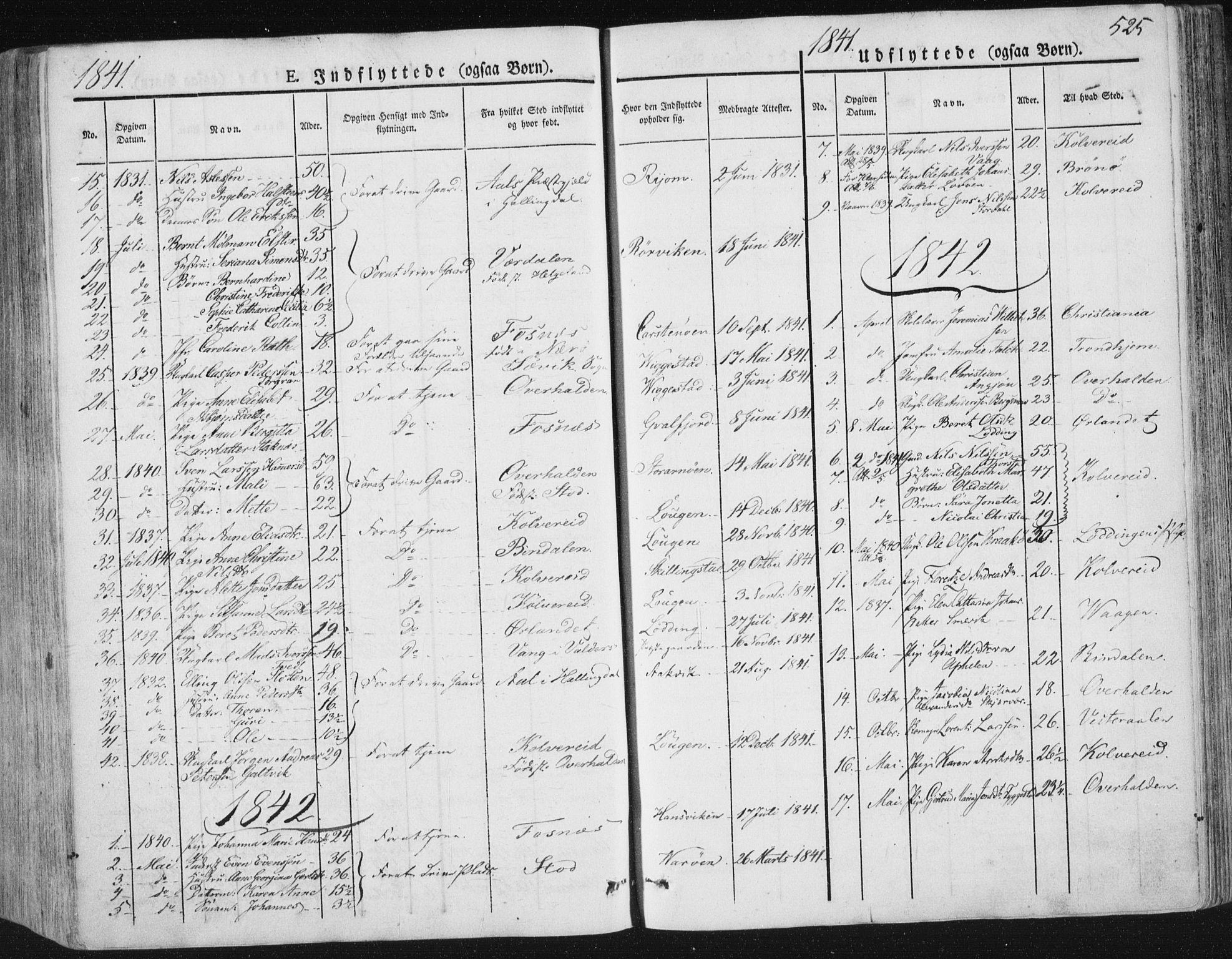 SAT, Ministerialprotokoller, klokkerbøker og fødselsregistre - Nord-Trøndelag, 784/L0669: Ministerialbok nr. 784A04, 1829-1859, s. 525