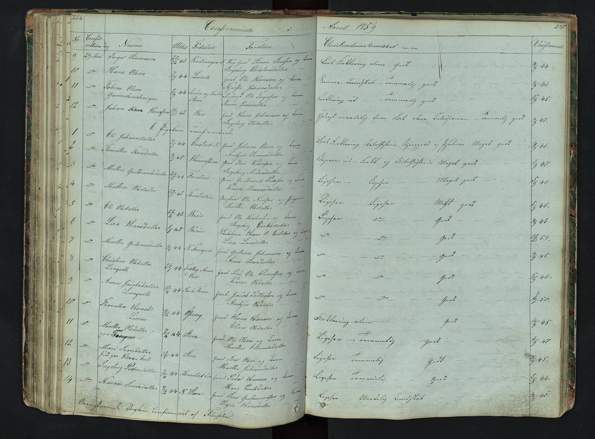 SAH, Gausdal prestekontor, Klokkerbok nr. 6, 1846-1893, s. 234-235