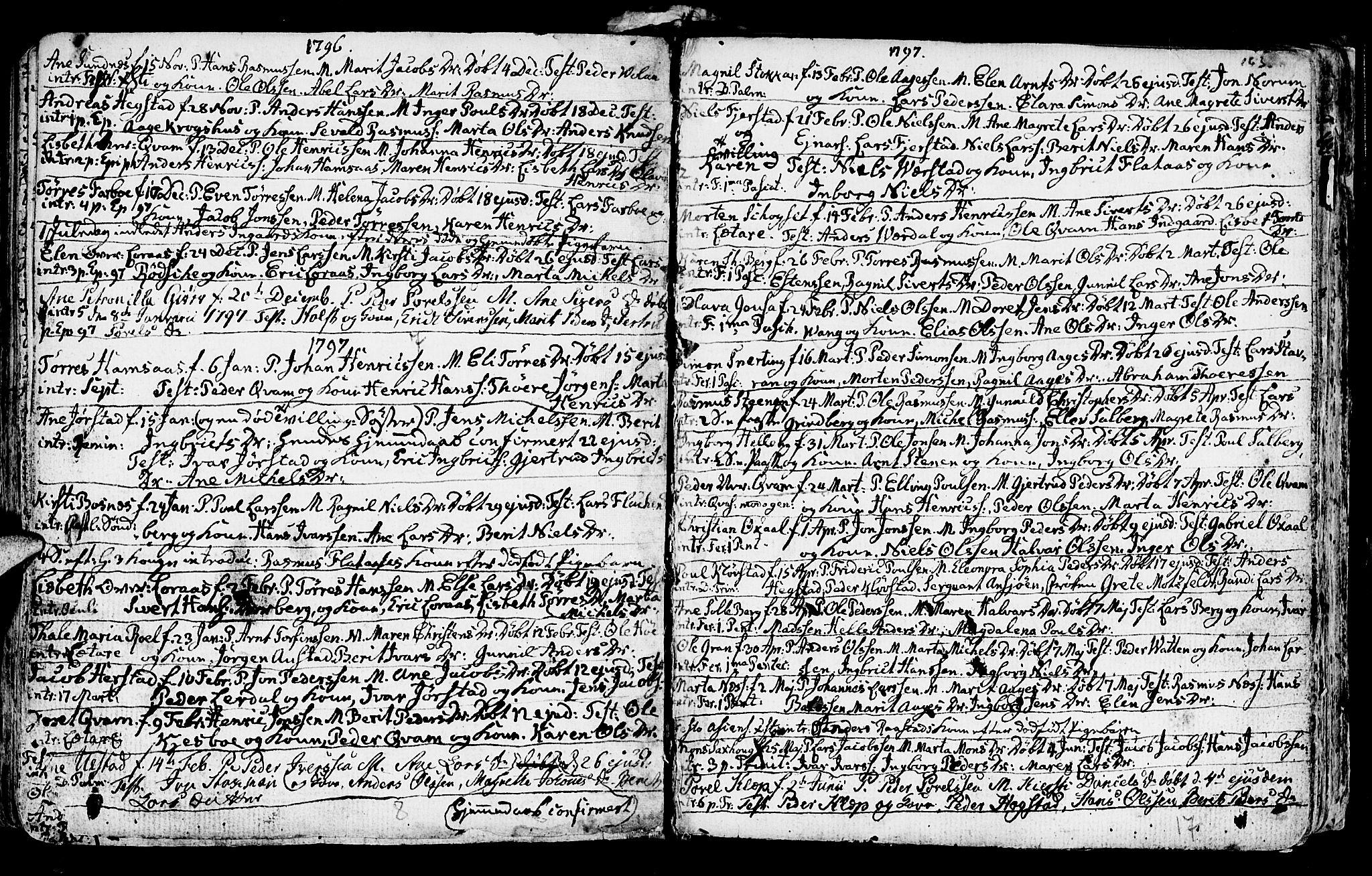 SAT, Ministerialprotokoller, klokkerbøker og fødselsregistre - Nord-Trøndelag, 730/L0273: Ministerialbok nr. 730A02, 1762-1802, s. 163