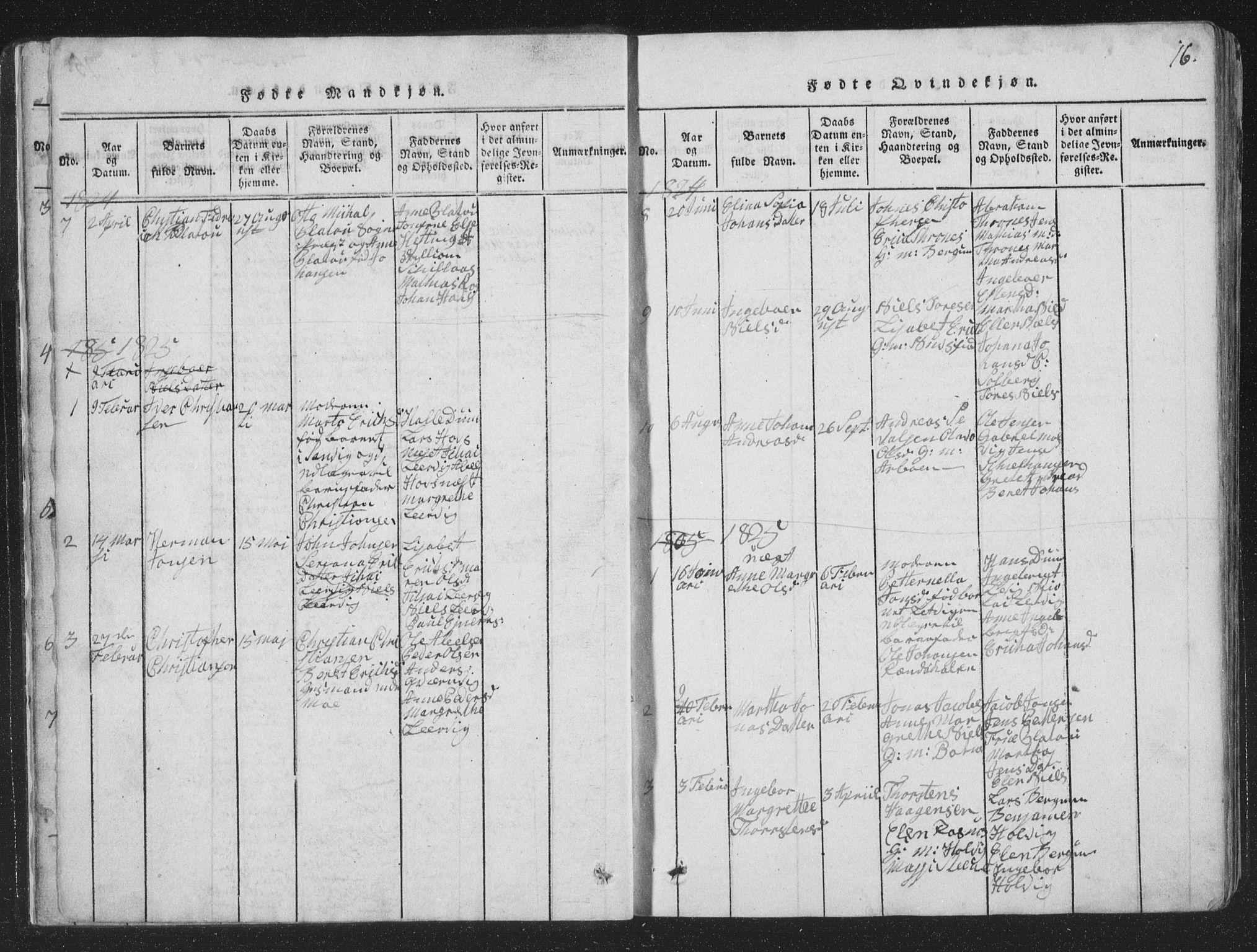 SAT, Ministerialprotokoller, klokkerbøker og fødselsregistre - Nord-Trøndelag, 773/L0613: Ministerialbok nr. 773A04, 1815-1845, s. 16