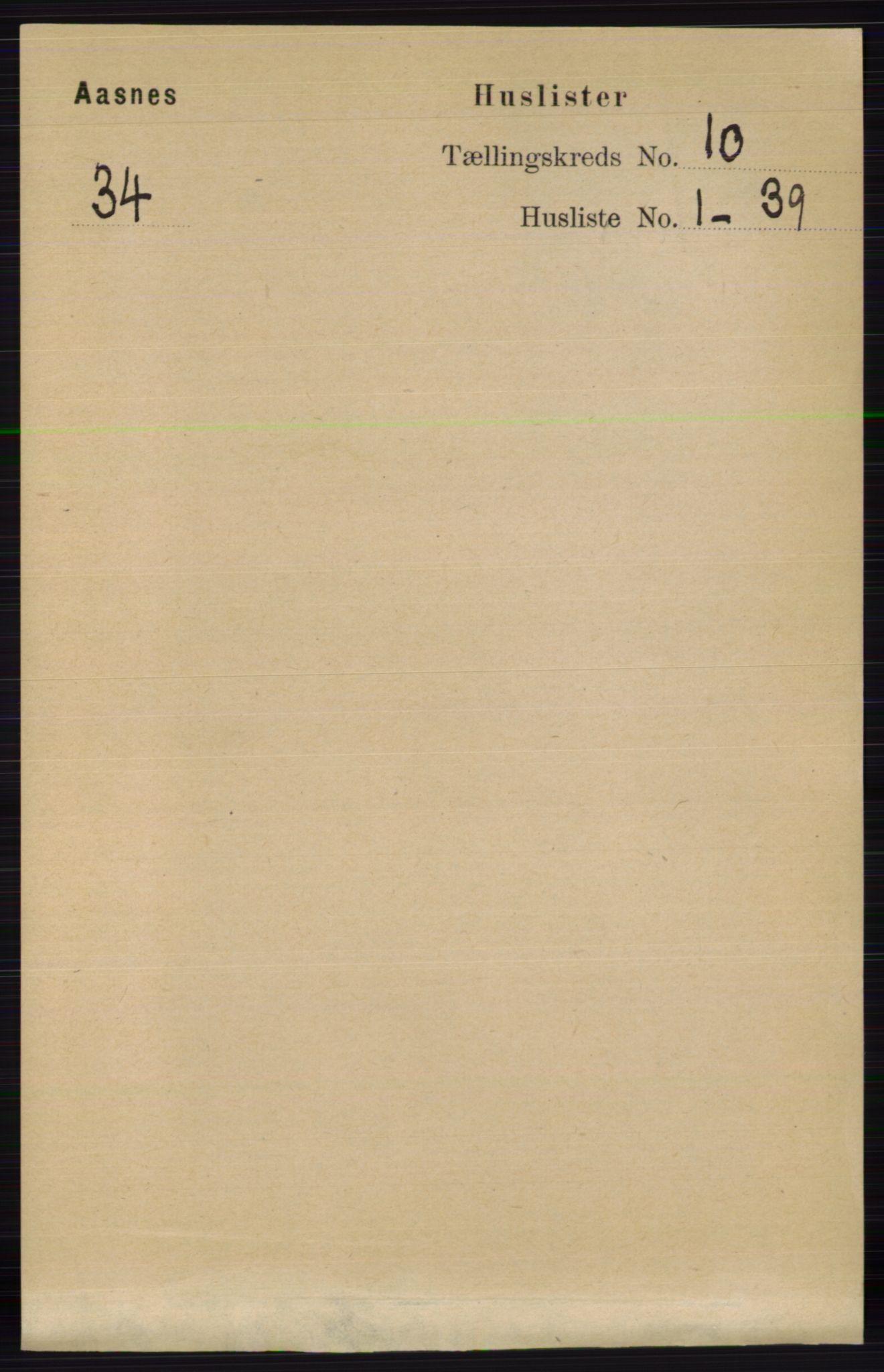 RA, Folketelling 1891 for 0425 Åsnes herred, 1891, s. 4987