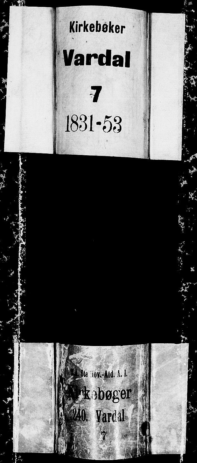 SAH, Vardal prestekontor, H/Ha/Hab/L0004: Klokkerbok nr. 4, 1831-1853