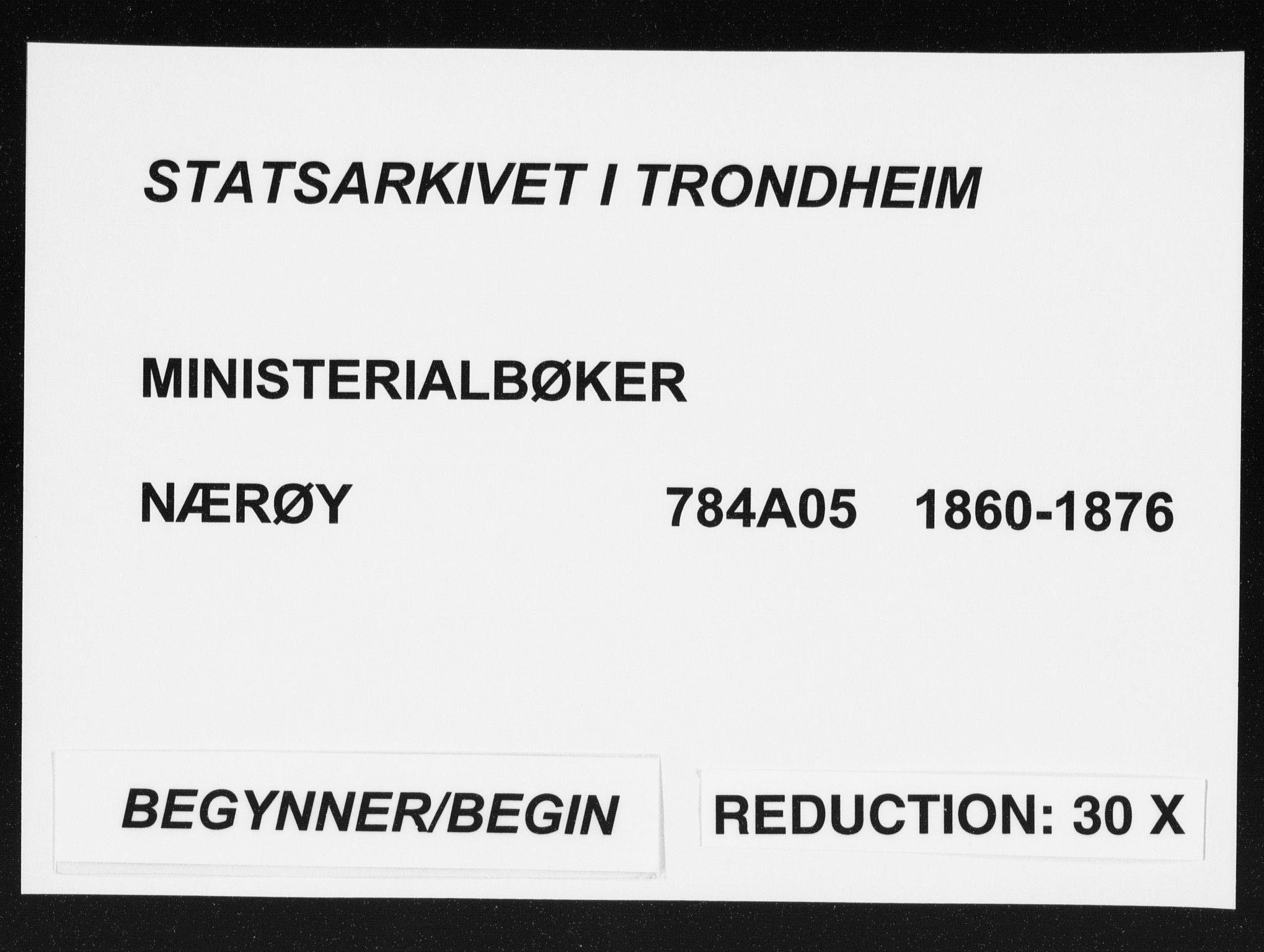SAT, Ministerialprotokoller, klokkerbøker og fødselsregistre - Nord-Trøndelag, 784/L0670: Ministerialbok nr. 784A05, 1860-1876