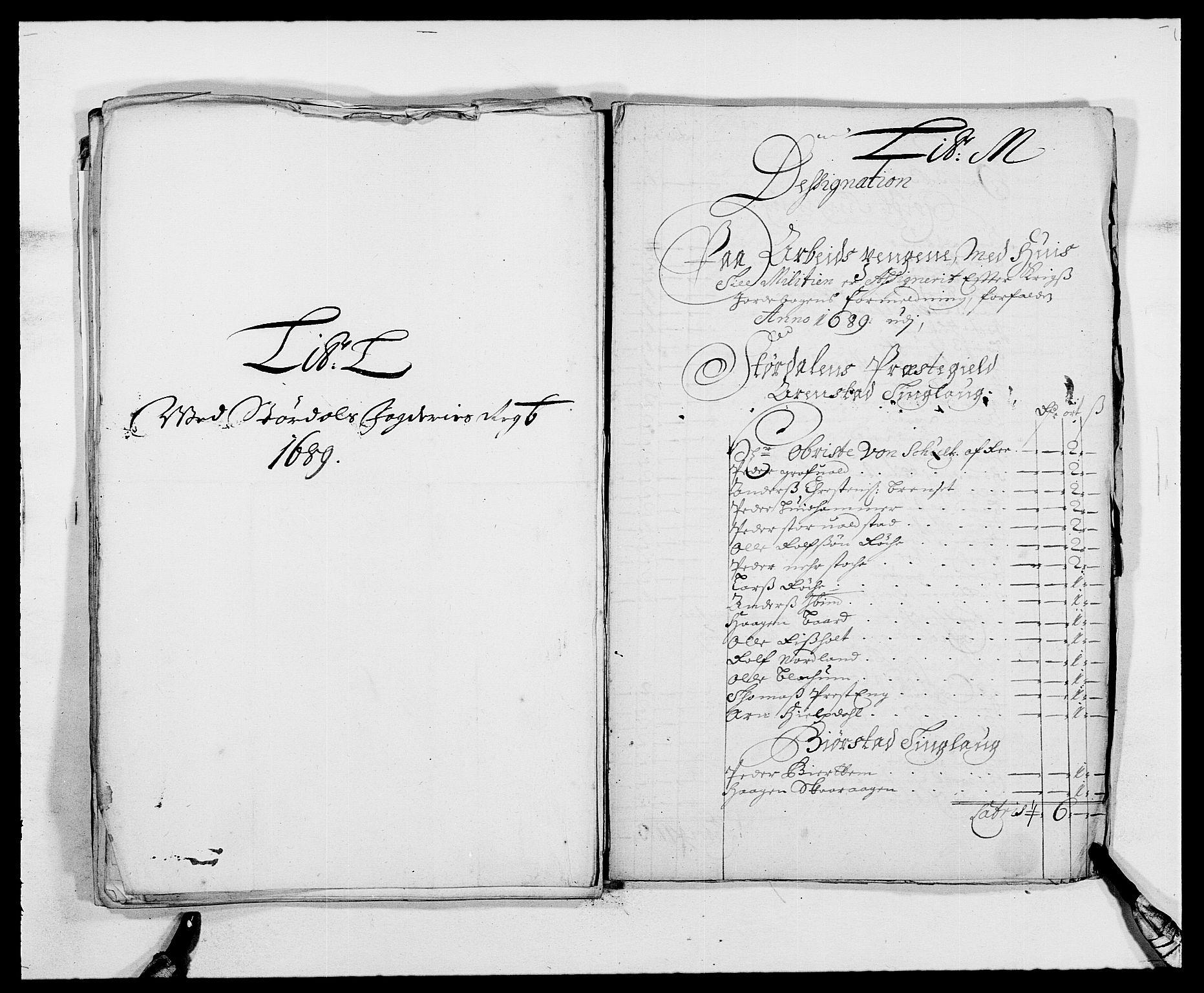 RA, Rentekammeret inntil 1814, Reviderte regnskaper, Fogderegnskap, R62/L4183: Fogderegnskap Stjørdal og Verdal, 1687-1689, s. 383