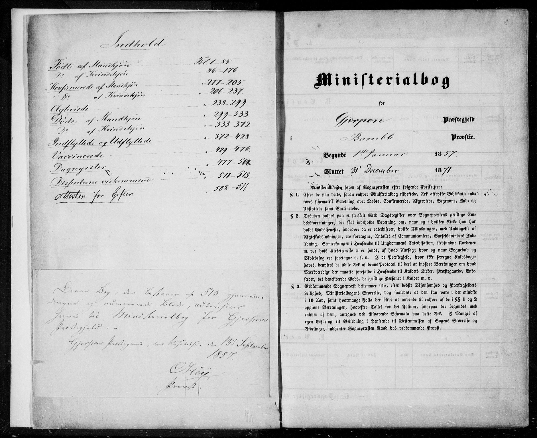 SAKO, Gjerpen kirkebøker, F/Fa/L0008a: Ministerialbok nr. 8A, 1857-1871