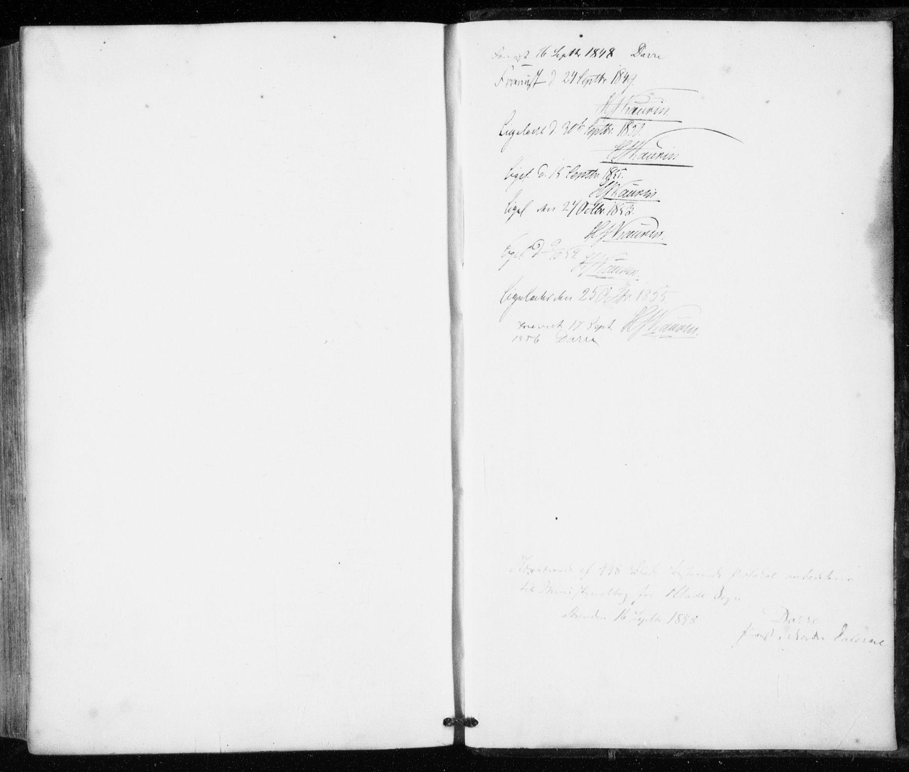 SAT, Ministerialprotokoller, klokkerbøker og fødselsregistre - Sør-Trøndelag, 606/L0291: Ministerialbok nr. 606A06, 1848-1856
