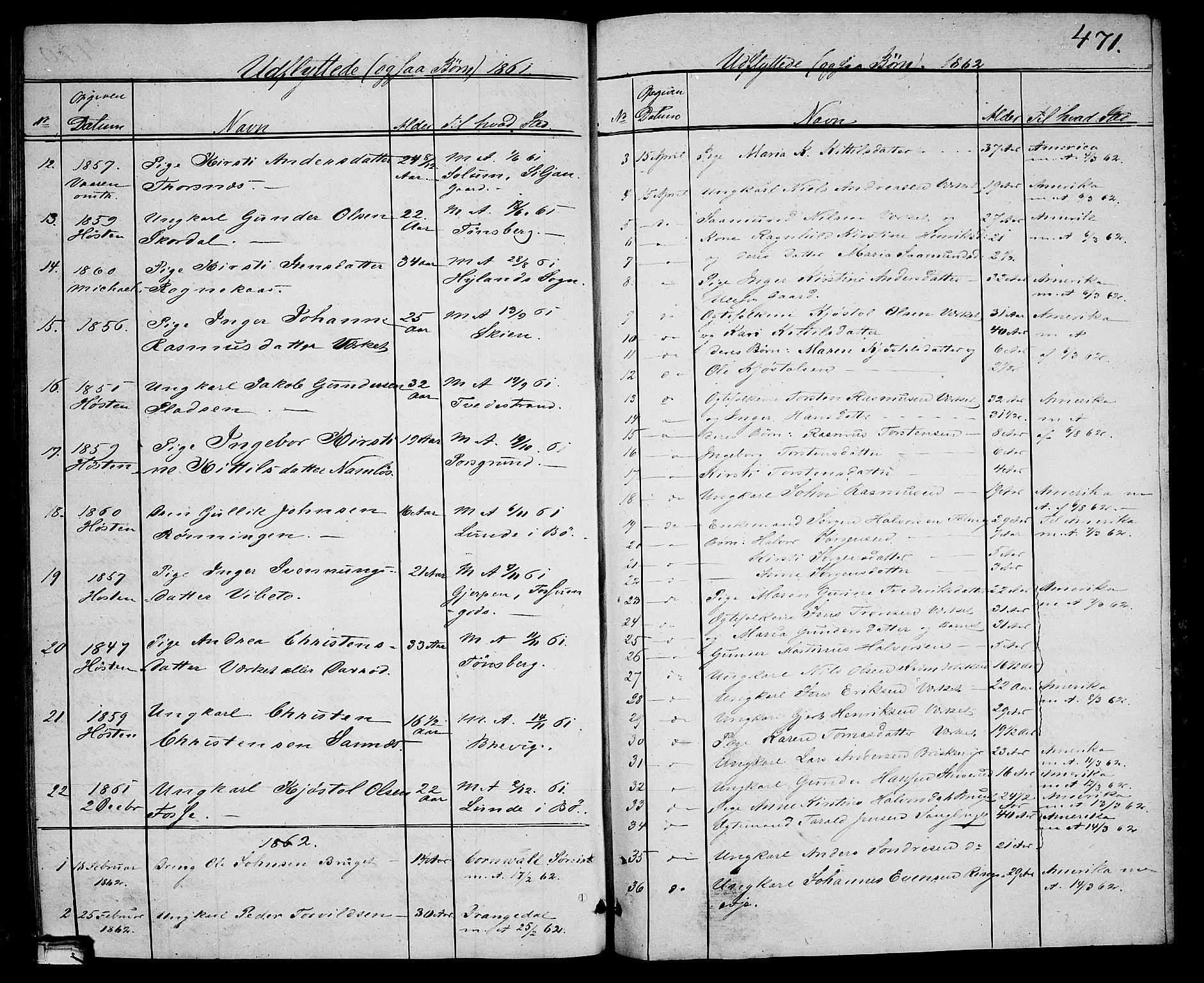SAKO, Holla kirkebøker, G/Ga/L0003: Klokkerbok nr. I 3, 1849-1866, s. 471