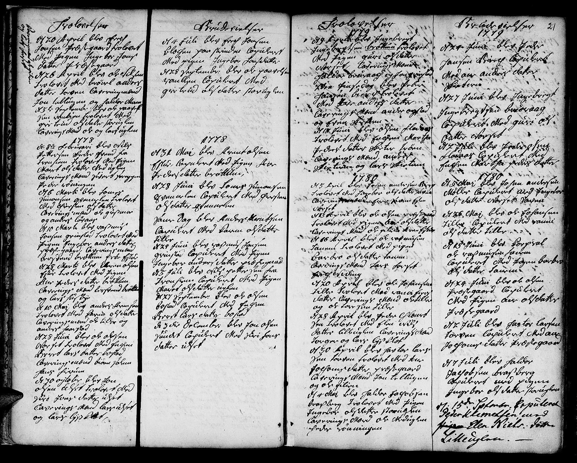 SAT, Ministerialprotokoller, klokkerbøker og fødselsregistre - Sør-Trøndelag, 618/L0437: Ministerialbok nr. 618A02, 1749-1782, s. 21