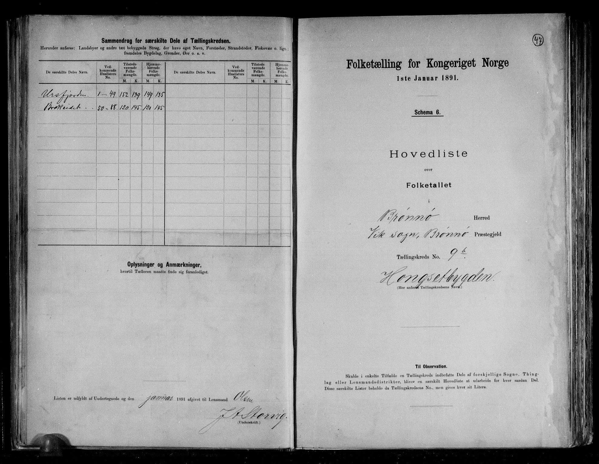 RA, Folketelling 1891 for 1814 Brønnøy herred, 1891, s. 25