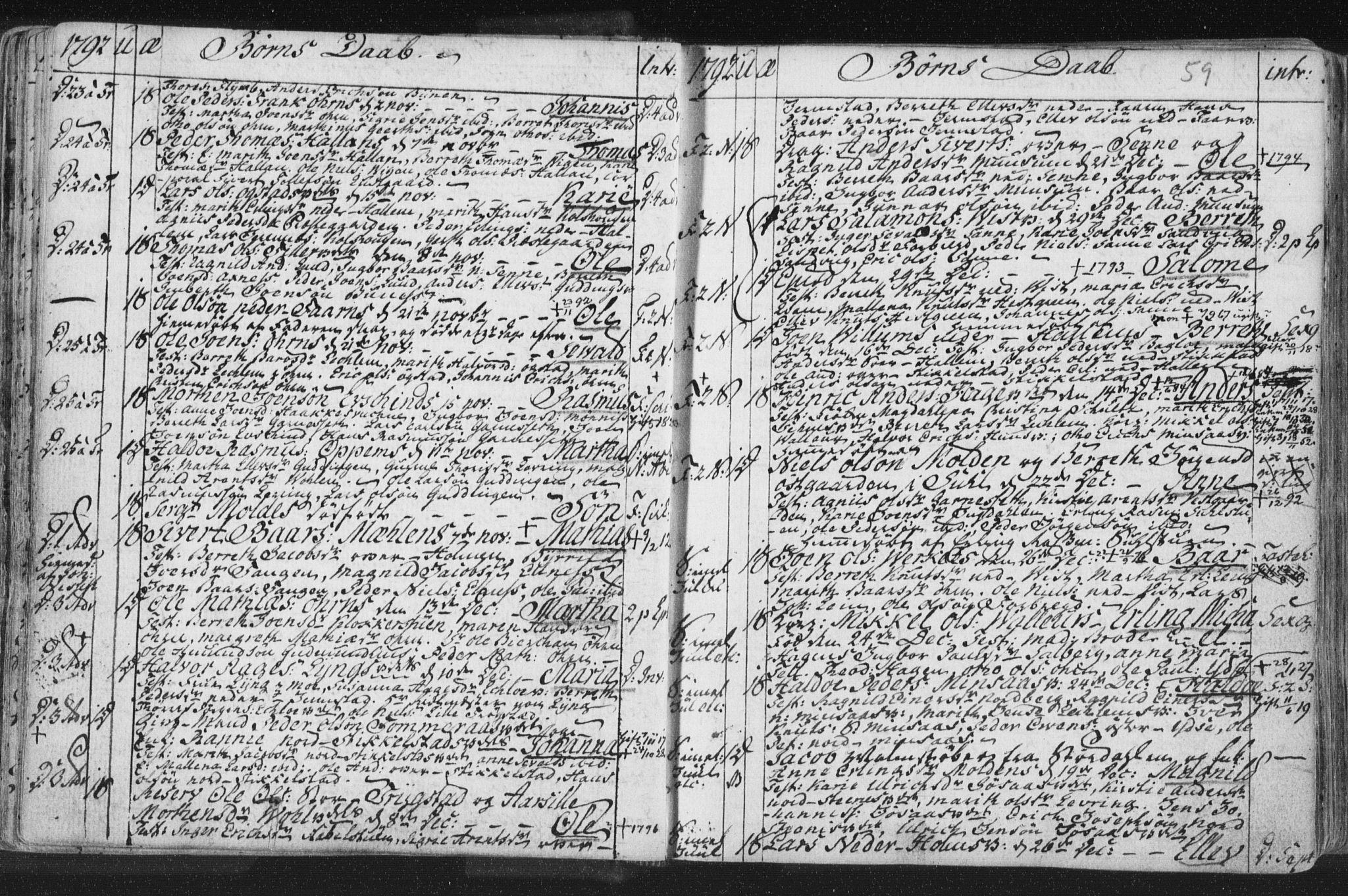 SAT, Ministerialprotokoller, klokkerbøker og fødselsregistre - Nord-Trøndelag, 723/L0232: Ministerialbok nr. 723A03, 1781-1804, s. 59