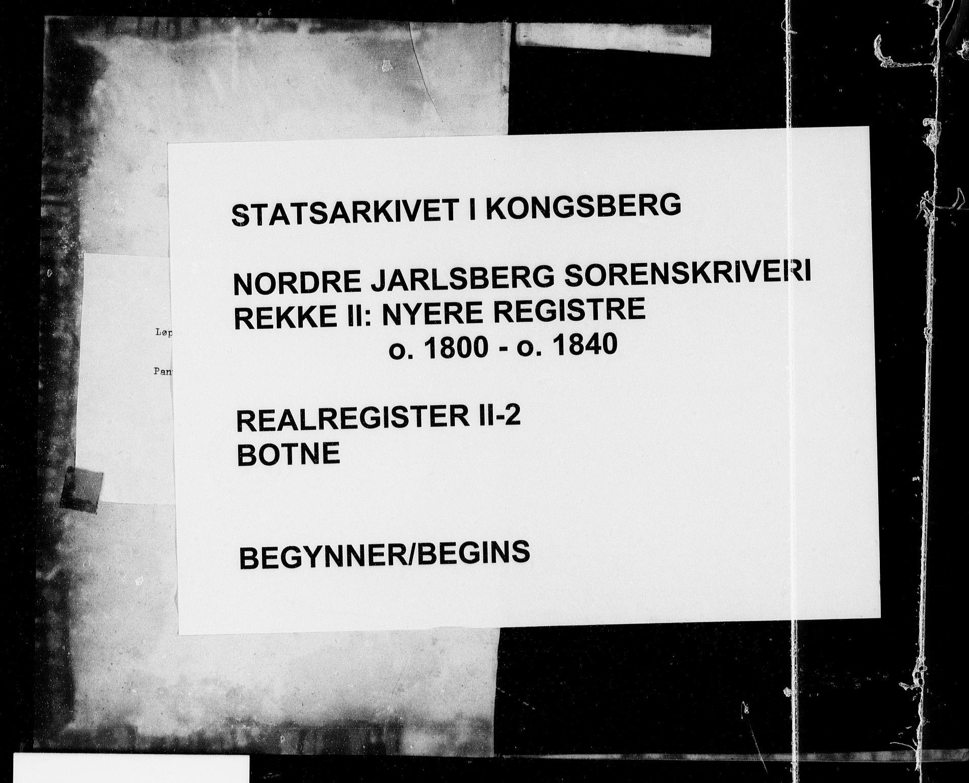 SAKO, Nordre Jarlsberg sorenskriveri, G/Gb/Gbb/L0002: Panteregister nr. II 2