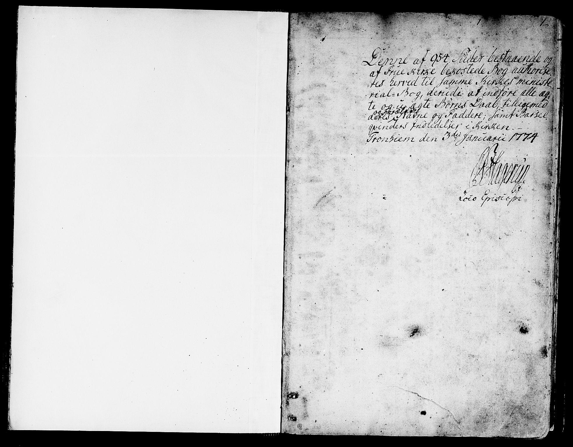 SAT, Ministerialprotokoller, klokkerbøker og fødselsregistre - Sør-Trøndelag, 602/L0104: Ministerialbok nr. 602A02, 1774-1814, s. 0-1