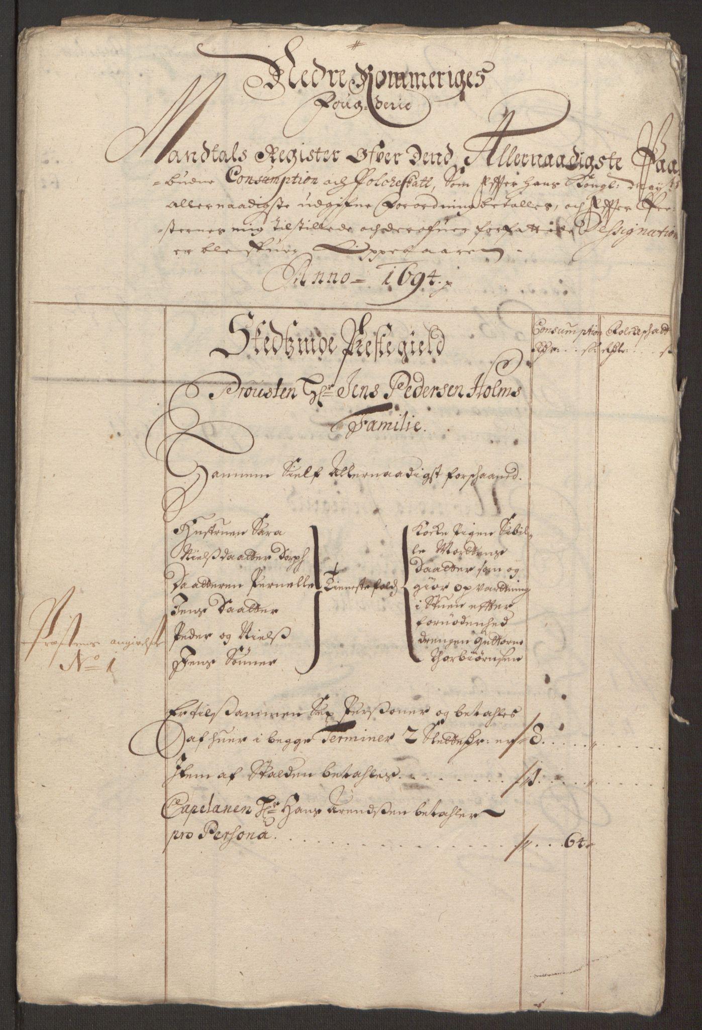 RA, Rentekammeret inntil 1814, Reviderte regnskaper, Fogderegnskap, R11/L0579: Fogderegnskap Nedre Romerike, 1694-1695, s. 197