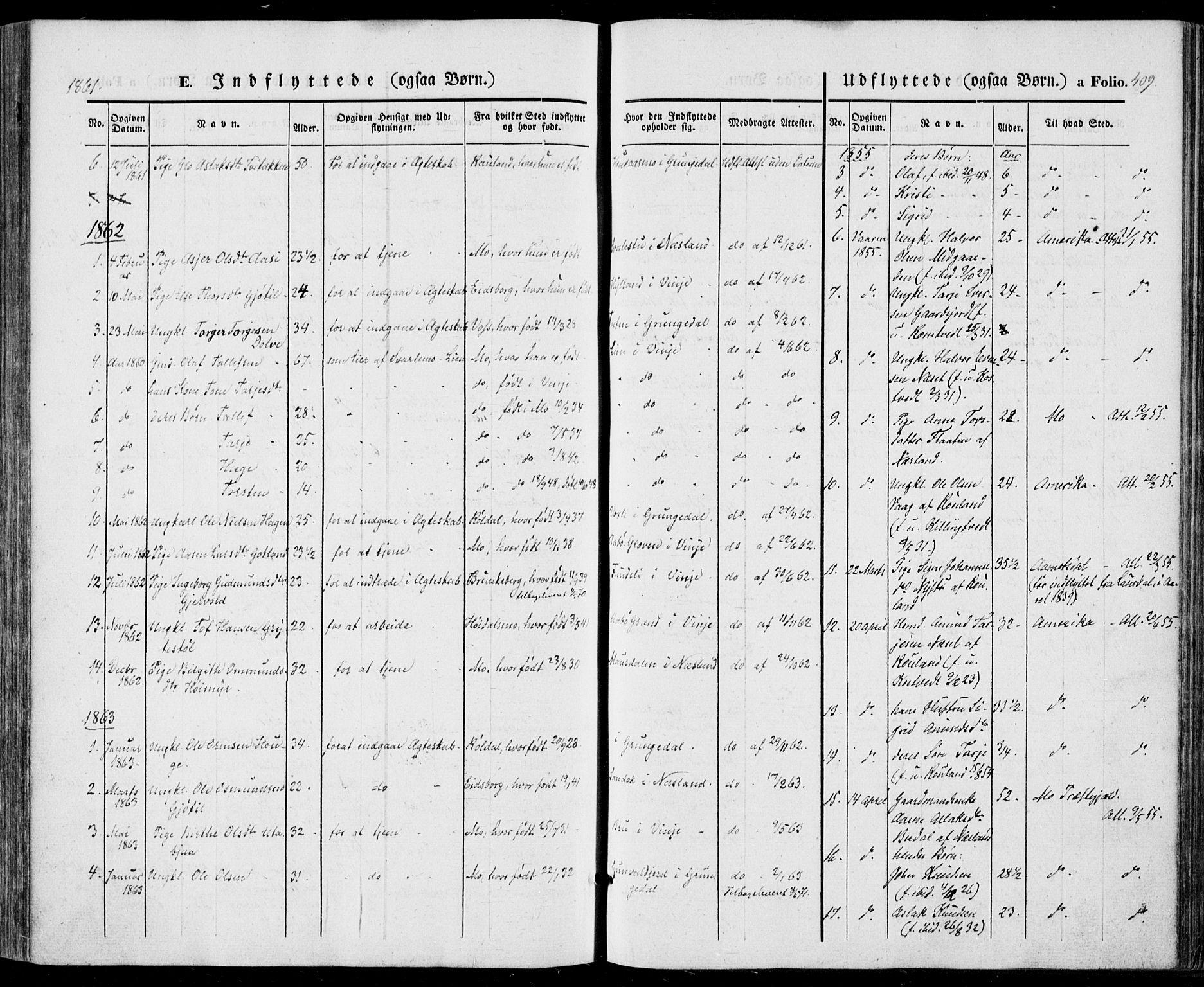SAKO, Vinje kirkebøker, F/Fa/L0004: Ministerialbok nr. I 4, 1843-1869, s. 409