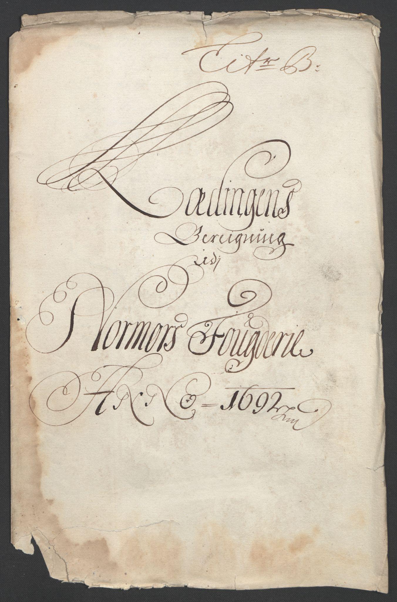 RA, Rentekammeret inntil 1814, Reviderte regnskaper, Fogderegnskap, R56/L3735: Fogderegnskap Nordmøre, 1692-1693, s. 68