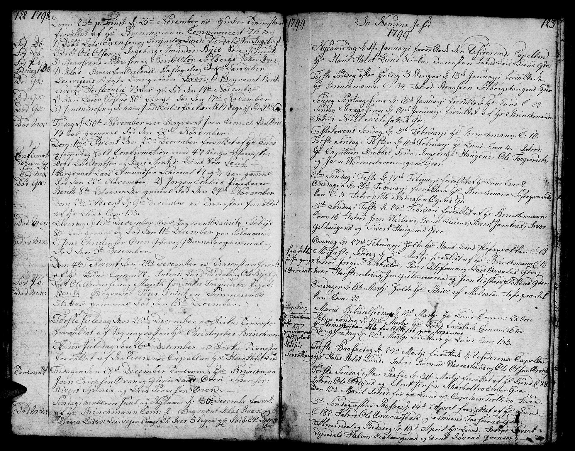 SAT, Ministerialprotokoller, klokkerbøker og fødselsregistre - Sør-Trøndelag, 668/L0815: Klokkerbok nr. 668C04, 1791-1815, s. 122-123