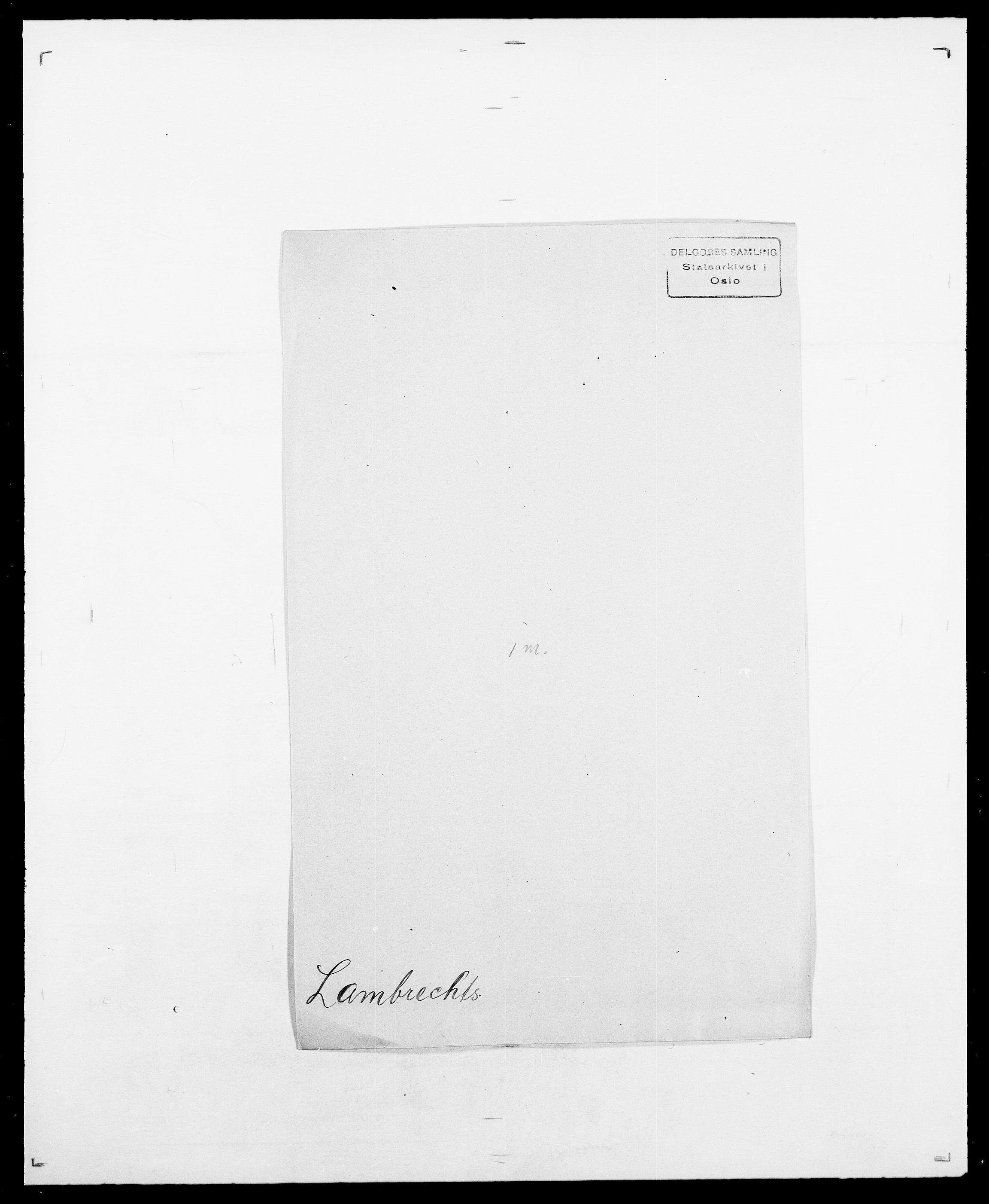 SAO, Delgobe, Charles Antoine - samling, D/Da/L0022: Krog - Lasteen, s. 436