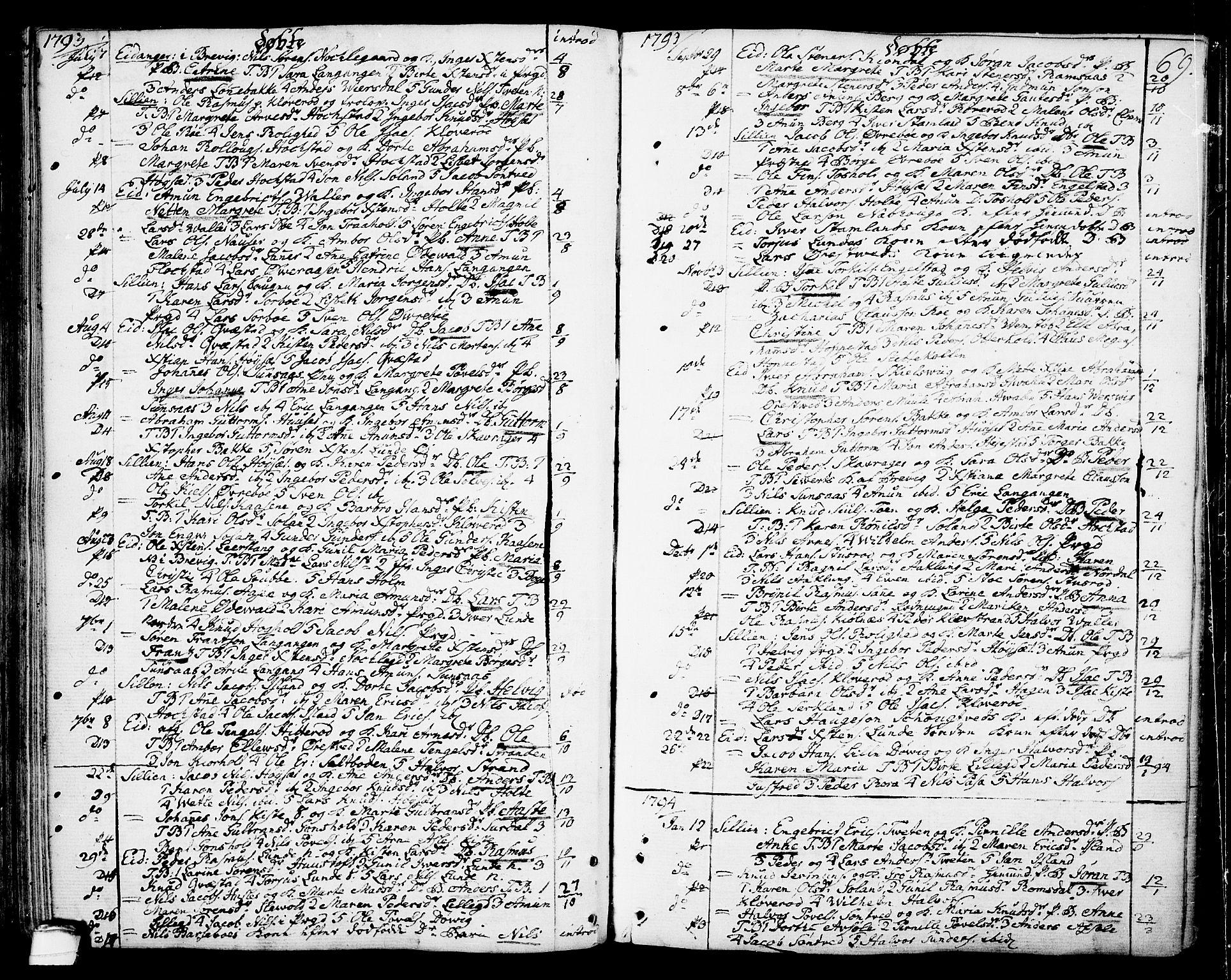 SAKO, Eidanger kirkebøker, F/Fa/L0006: Ministerialbok nr. 6, 1764-1814, s. 69