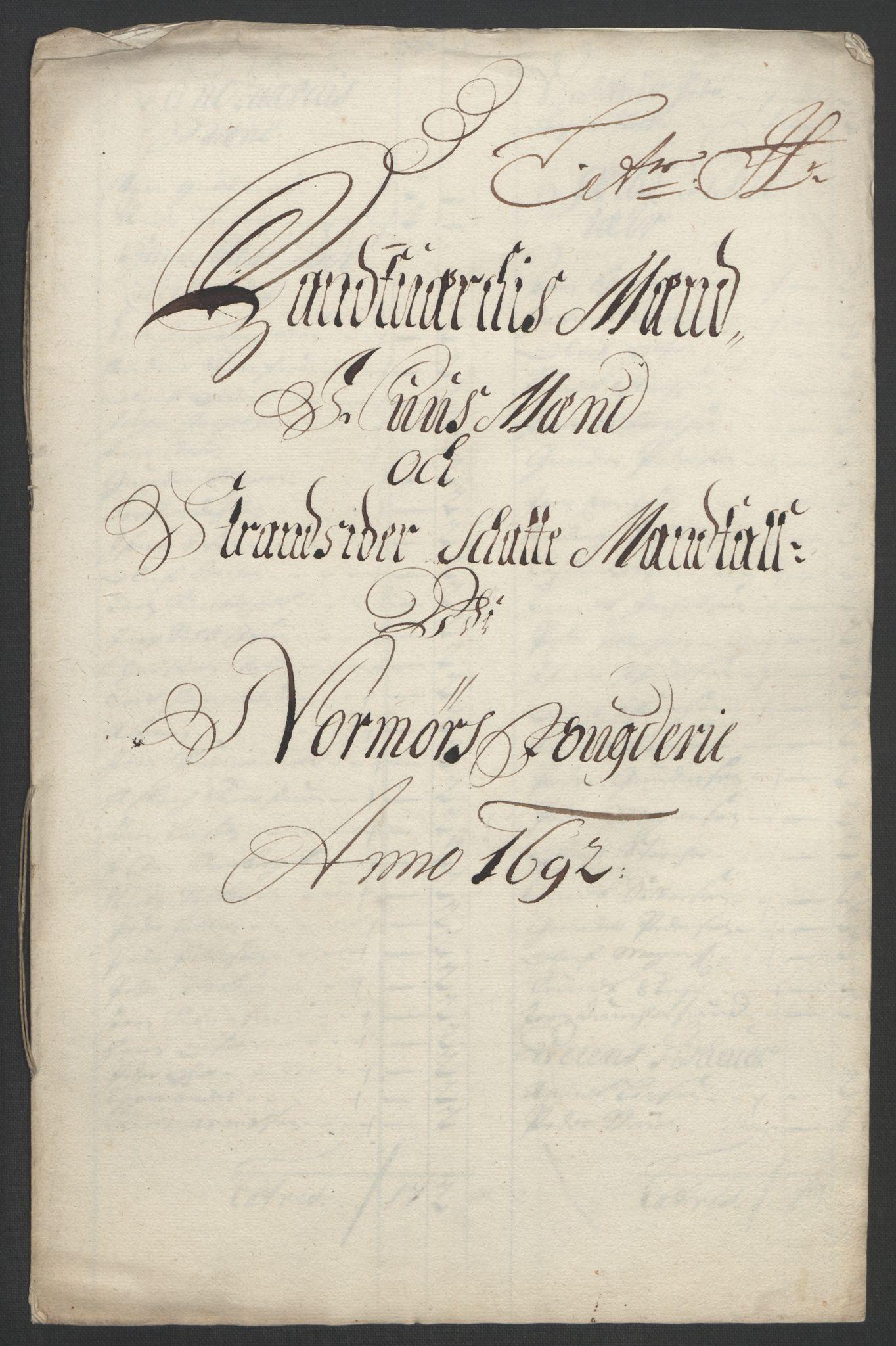 RA, Rentekammeret inntil 1814, Reviderte regnskaper, Fogderegnskap, R56/L3735: Fogderegnskap Nordmøre, 1692-1693, s. 102