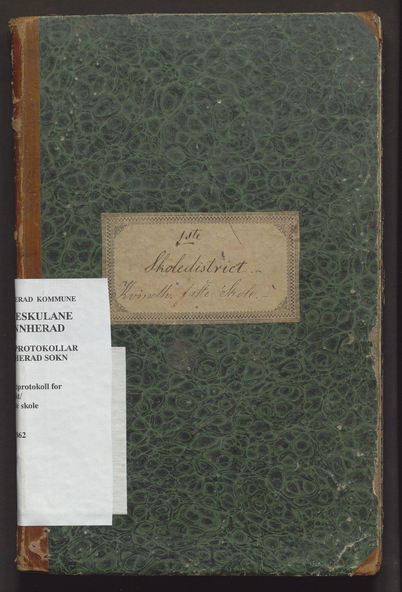 IKAH, Kvinnherad kommune. Barneskulane, F/Fe/L0001: Skuleprotokoll for den faste skulen i 1. skuledistrikt, 1846-1862