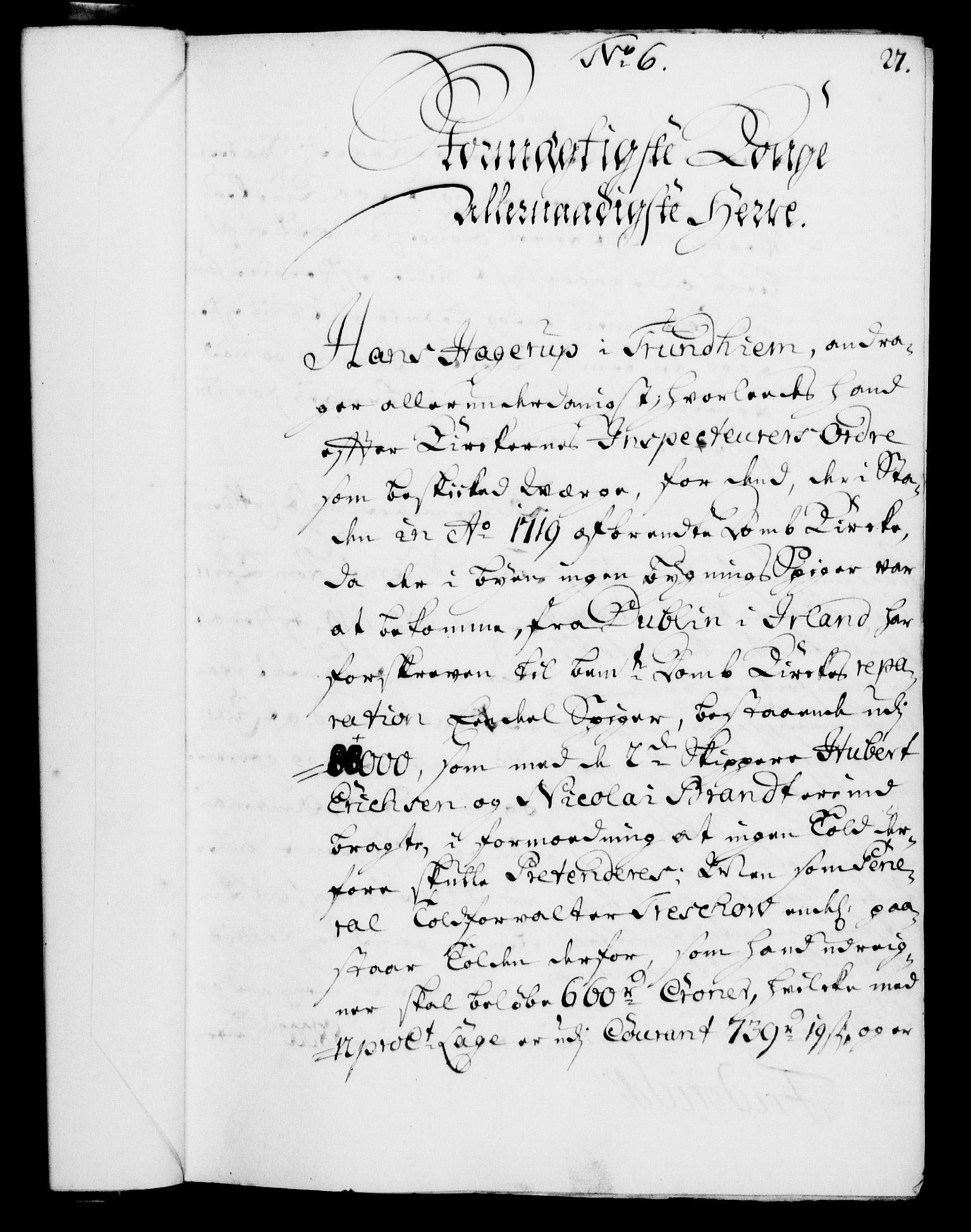 RA, Rentekammeret, Kammerkanselliet, G/Gf/Gfa/L0004: Norsk relasjons- og resolusjonsprotokoll (merket RK 52.4), 1721, s. 54