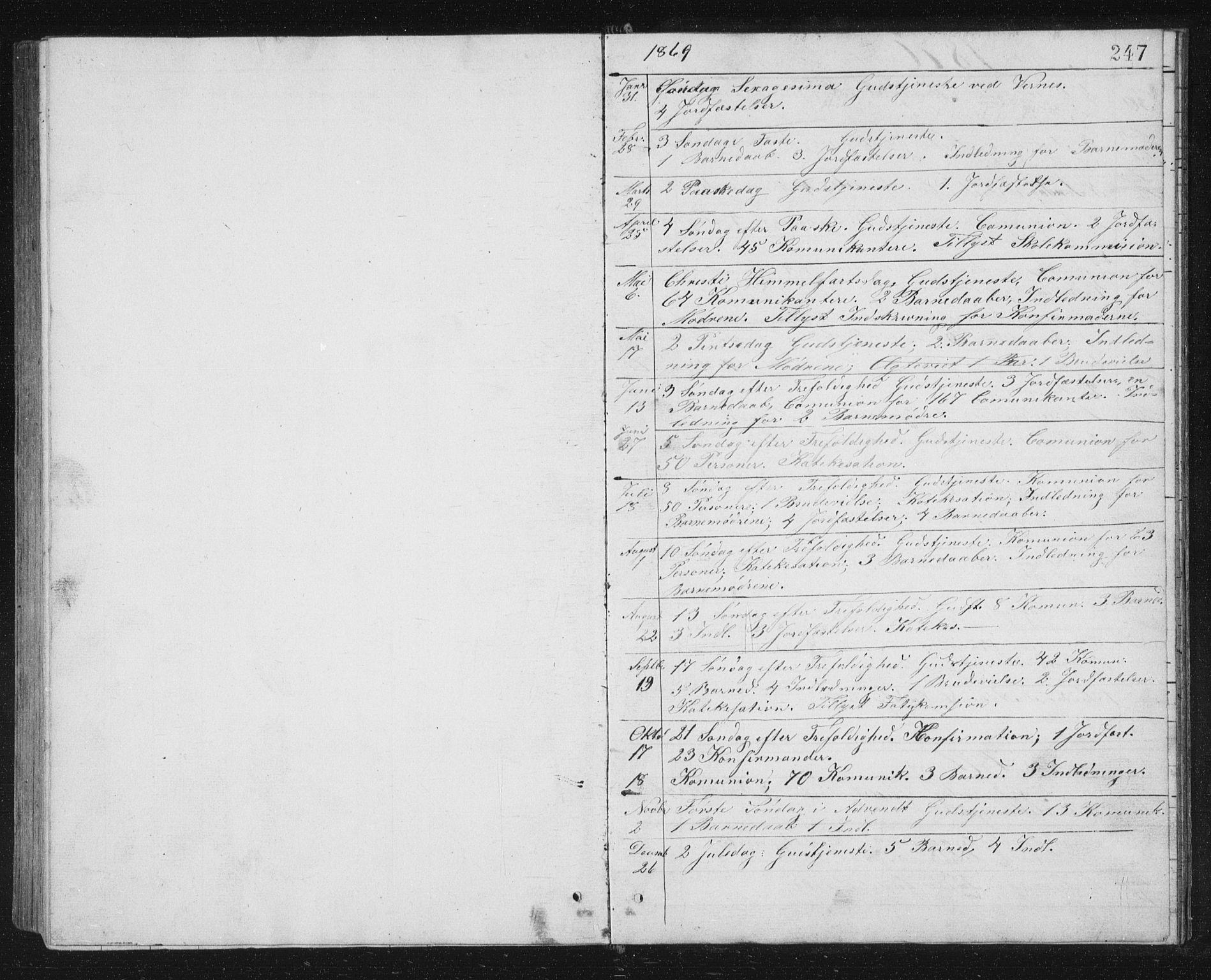 SAT, Ministerialprotokoller, klokkerbøker og fødselsregistre - Sør-Trøndelag, 662/L0756: Klokkerbok nr. 662C01, 1869-1891, s. 247