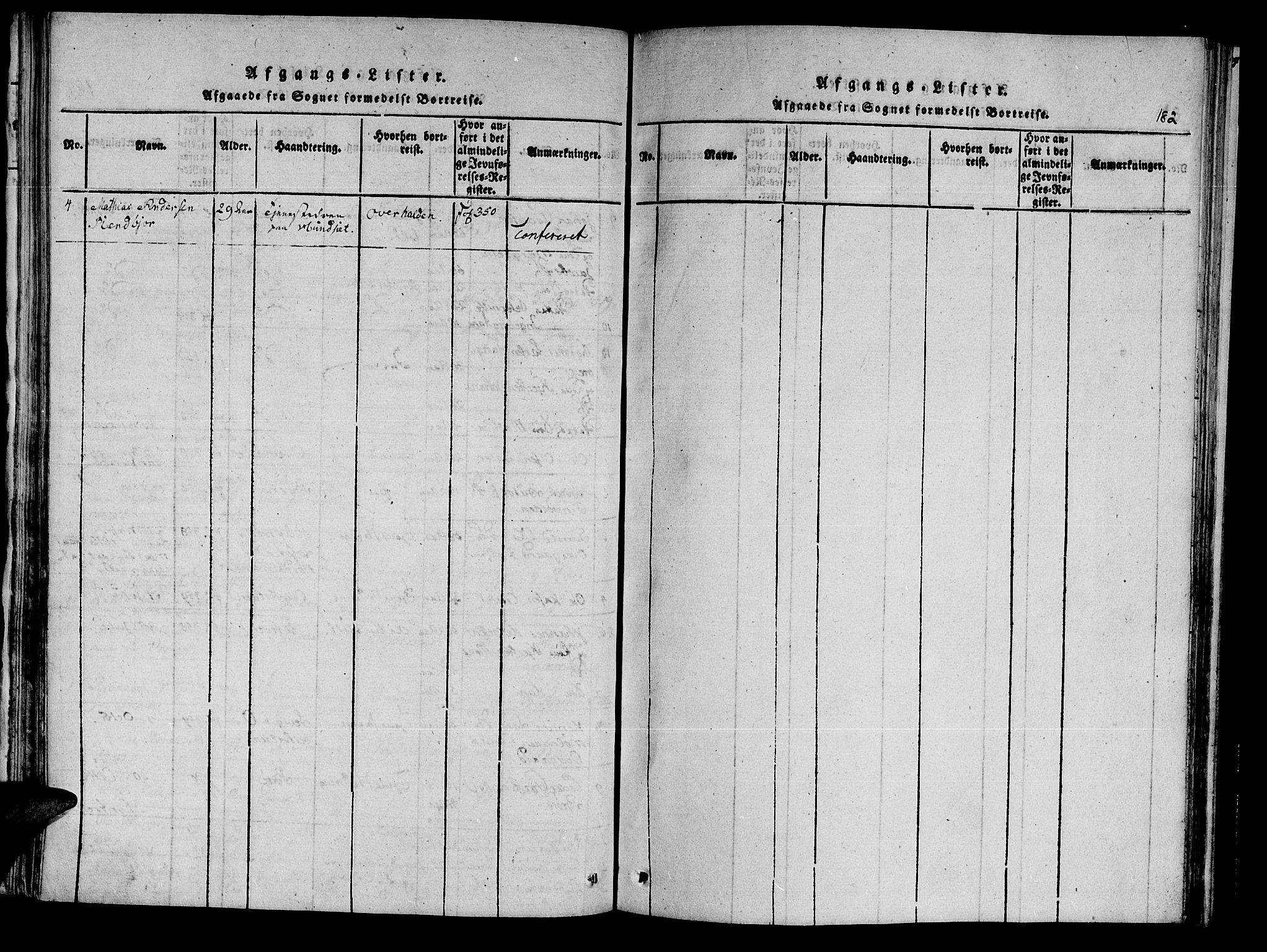 SAT, Ministerialprotokoller, klokkerbøker og fødselsregistre - Nord-Trøndelag, 741/L0387: Ministerialbok nr. 741A03 /3, 1817-1822, s. 182