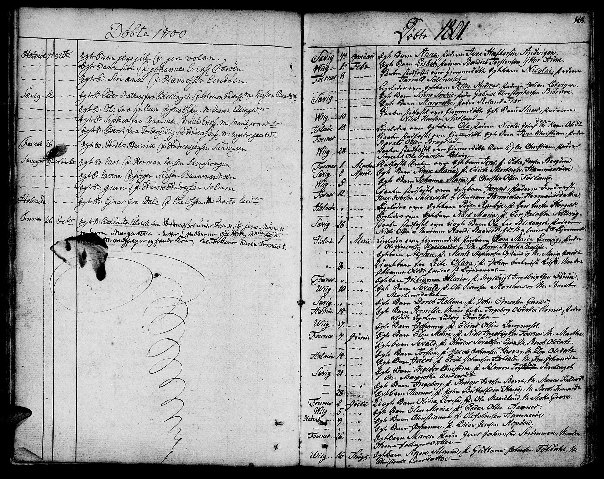 SAT, Ministerialprotokoller, klokkerbøker og fødselsregistre - Nord-Trøndelag, 773/L0608: Ministerialbok nr. 773A02, 1784-1816, s. 168