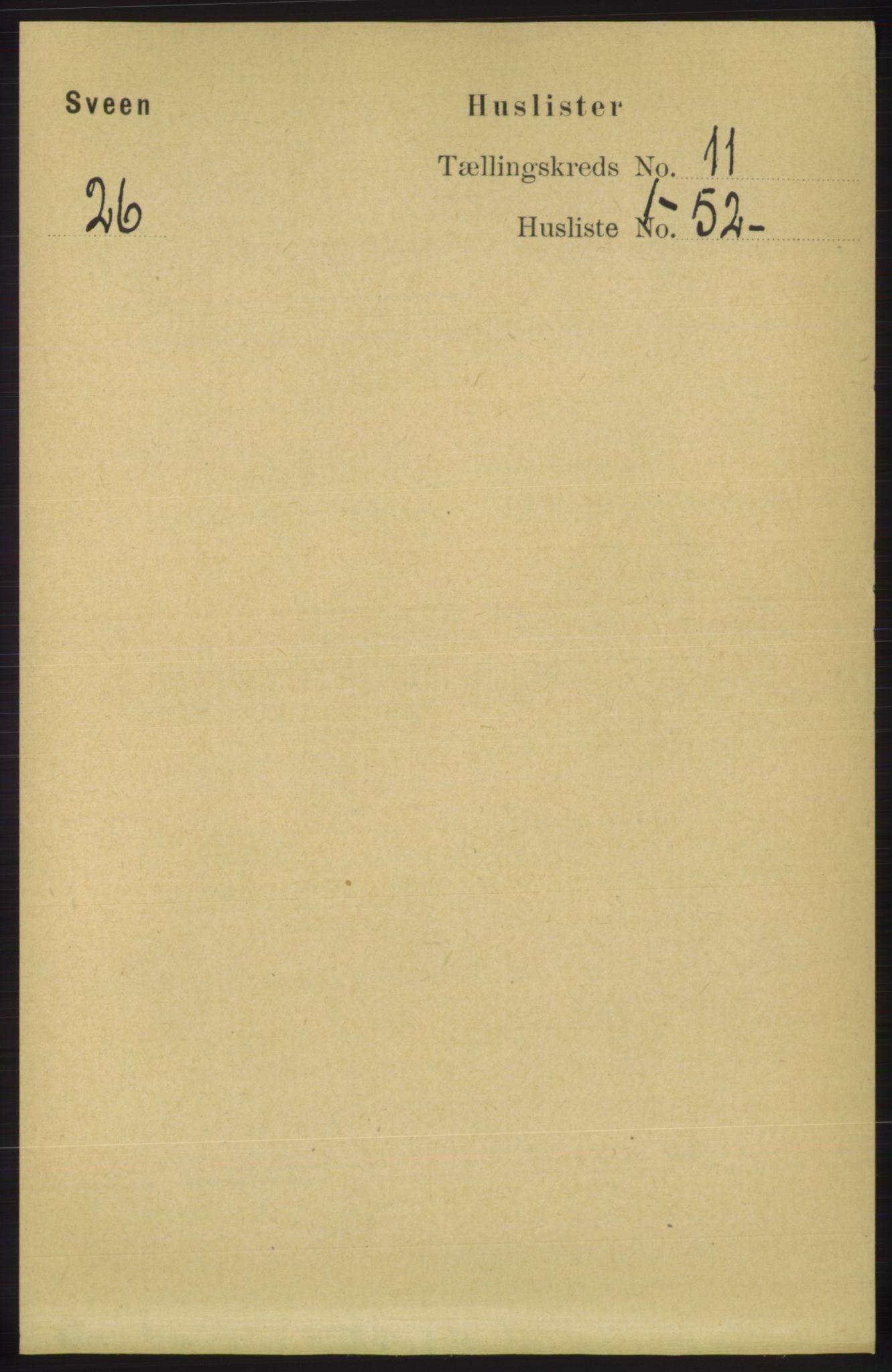 RA, Folketelling 1891 for 1216 Sveio herred, 1891, s. 3068