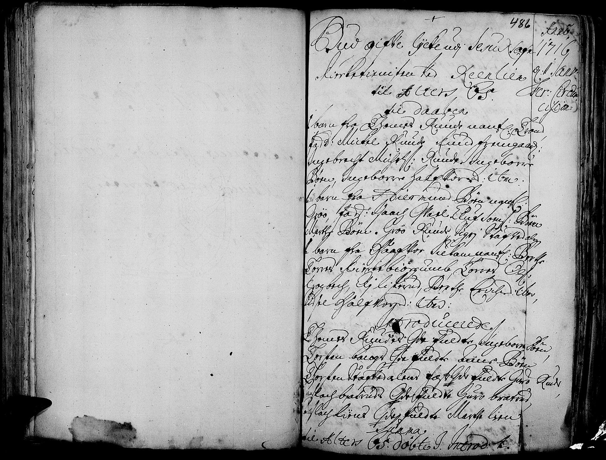 SAH, Aurdal prestekontor, Ministerialbok nr. 1-3, 1692-1730, s. 486