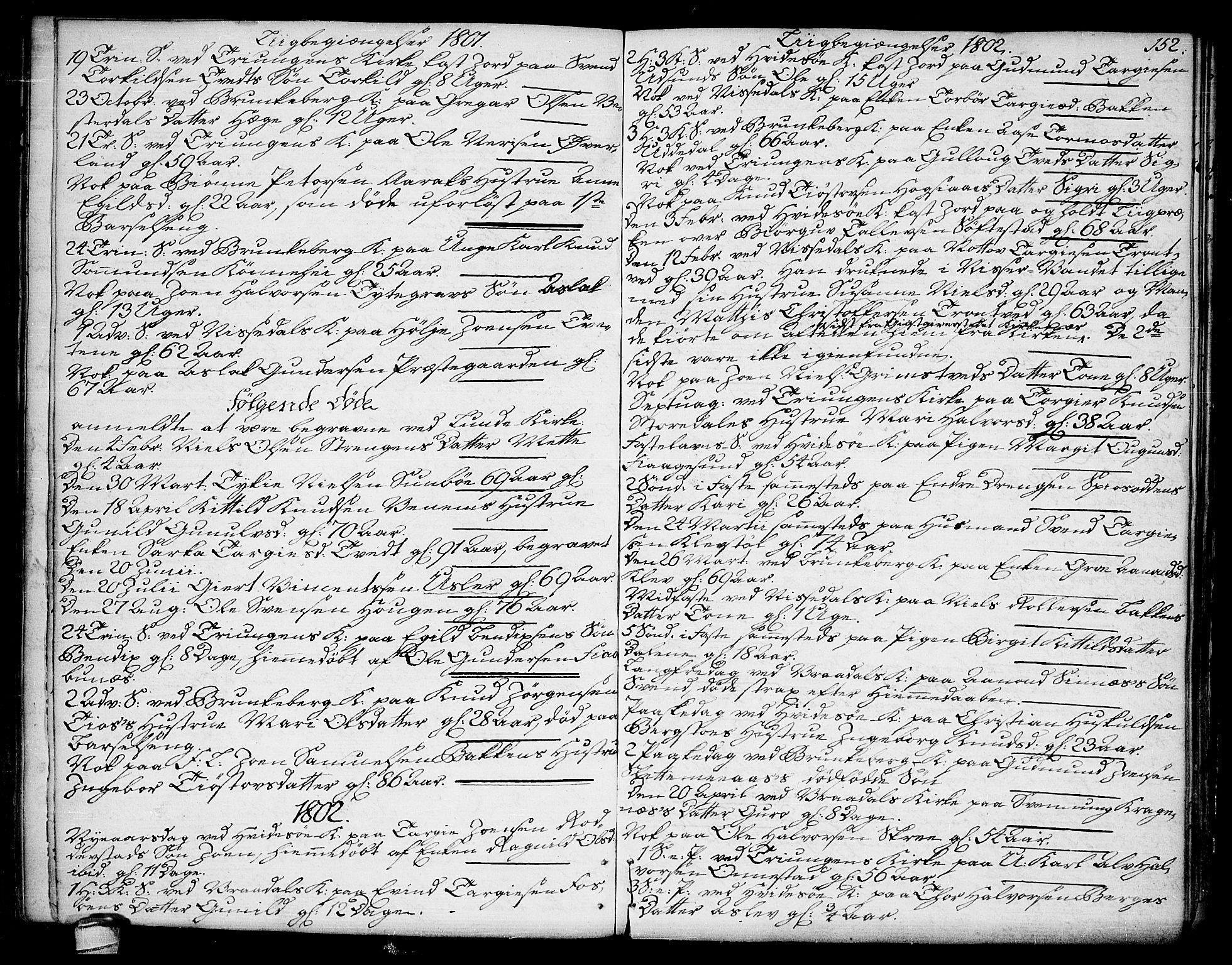 SAKO, Kviteseid kirkebøker, F/Fa/L0004: Ministerialbok nr. I 4, 1800-1814, s. 152