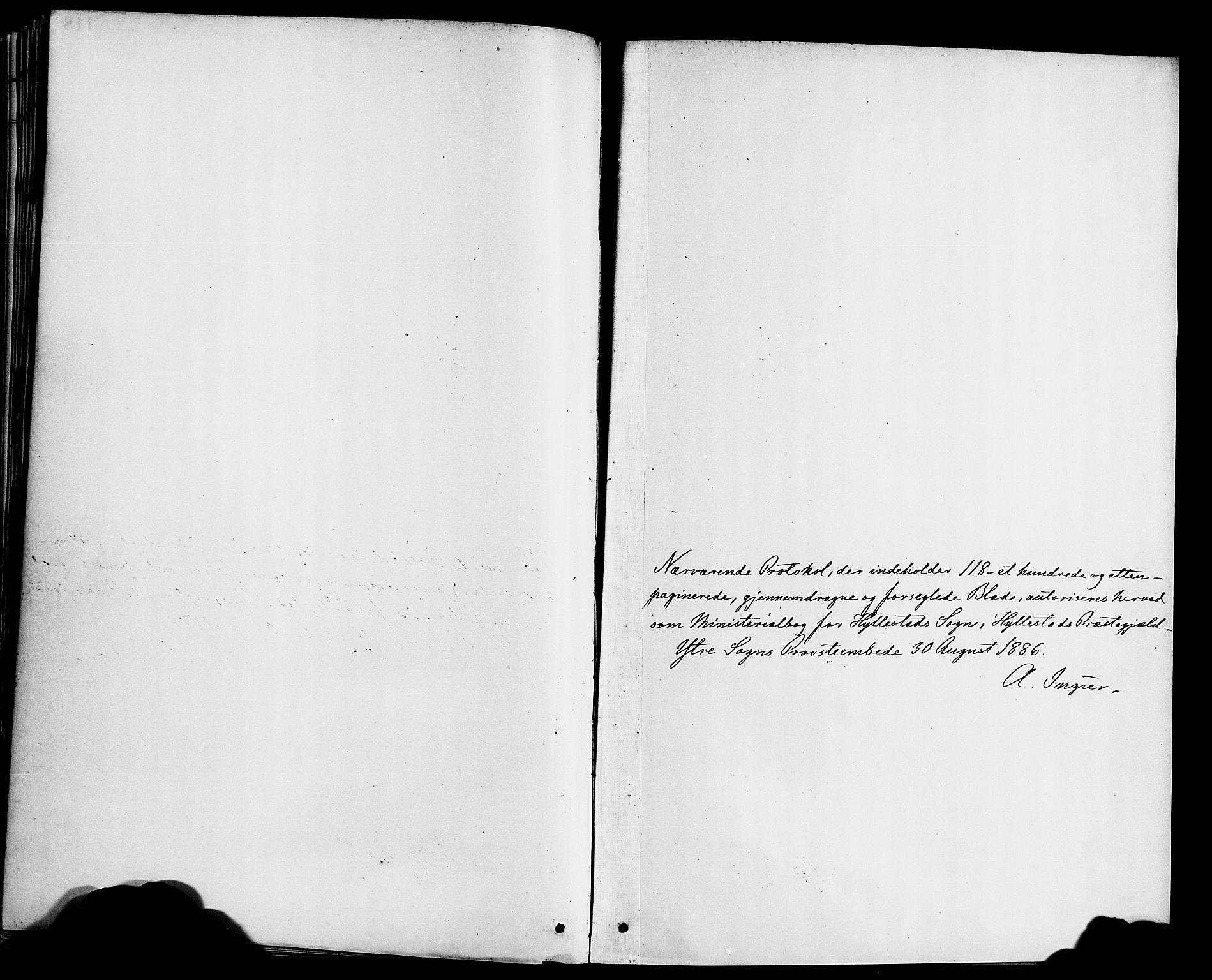 SAB, Hyllestad sokneprestembete, Ministerialbok nr. B 1, 1886-1904