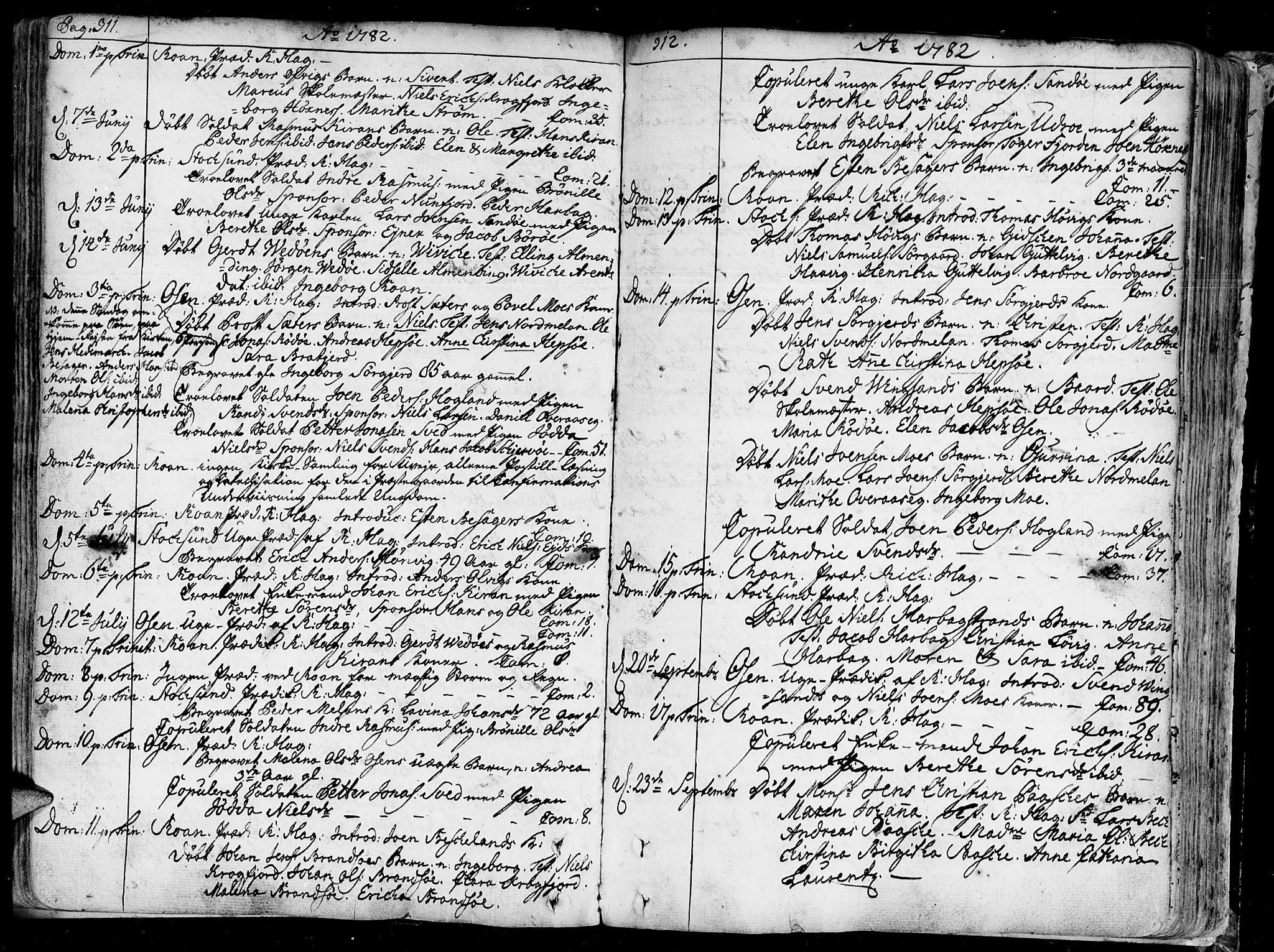 SAT, Ministerialprotokoller, klokkerbøker og fødselsregistre - Sør-Trøndelag, 657/L0700: Ministerialbok nr. 657A01, 1732-1801, s. 311-312