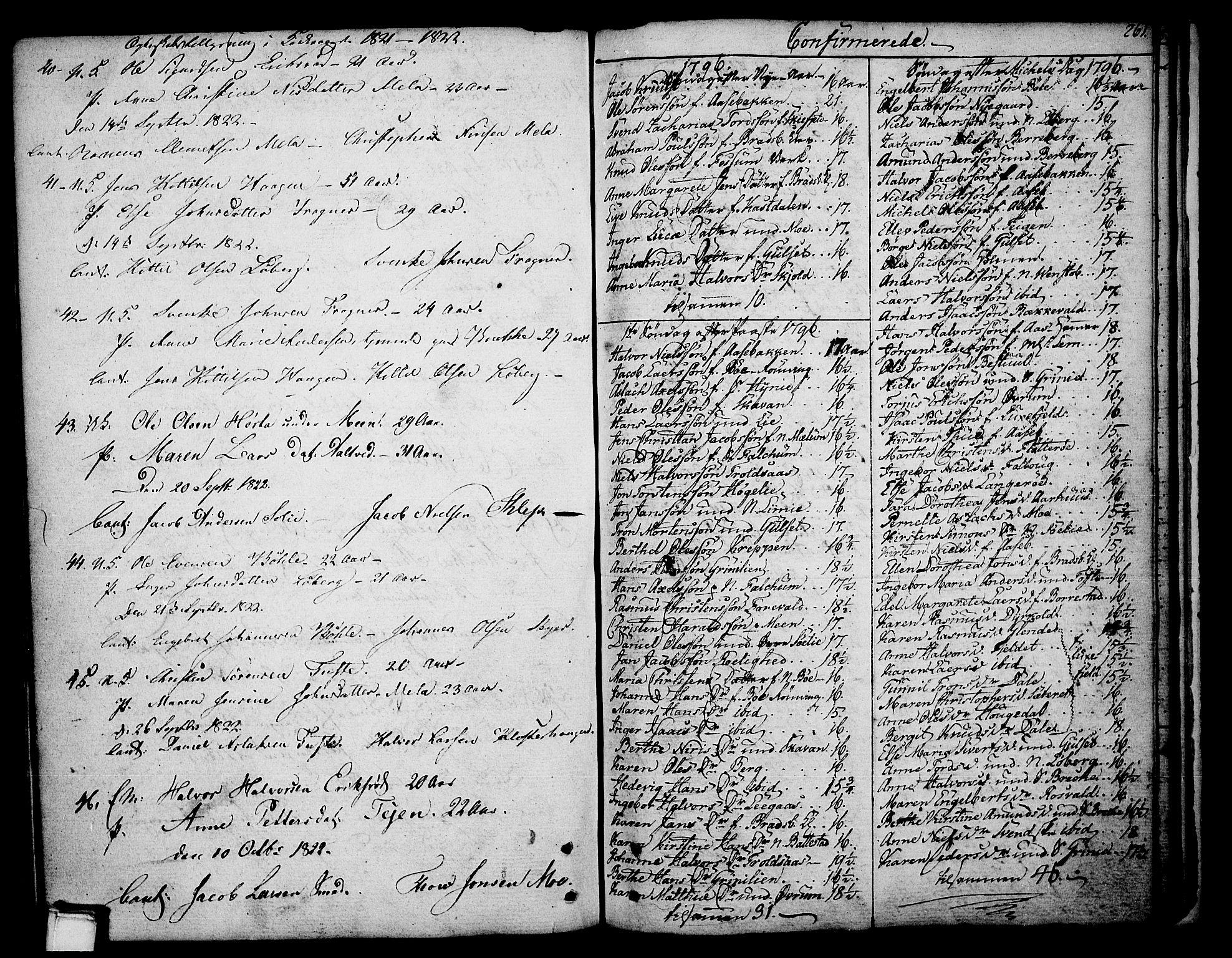 SAKO, Gjerpen kirkebøker, F/Fa/L0003: Ministerialbok nr. 3, 1796-1814, s. 261