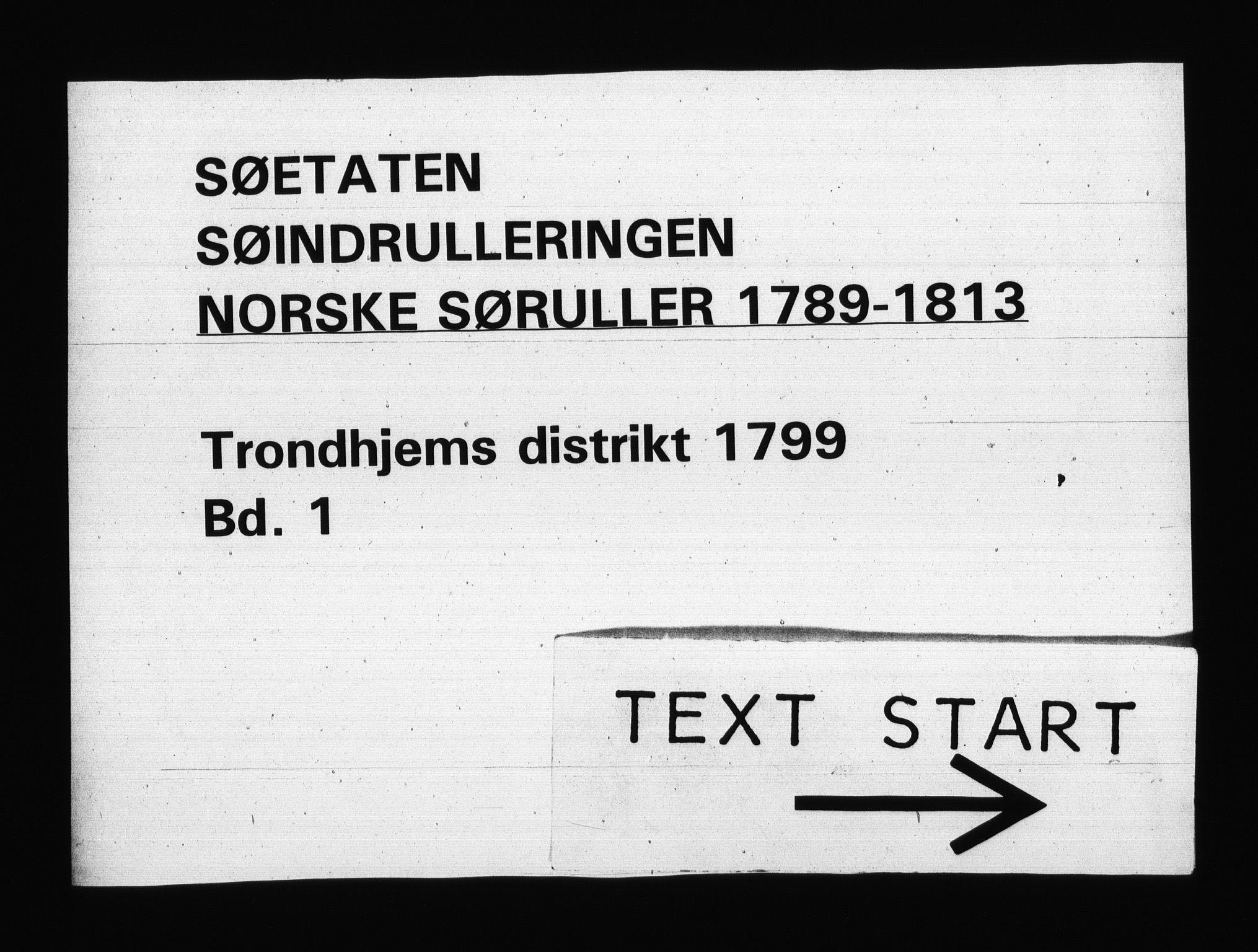 RA, Sjøetaten, F/L0315: Trondheim distrikt, bind 1, 1799