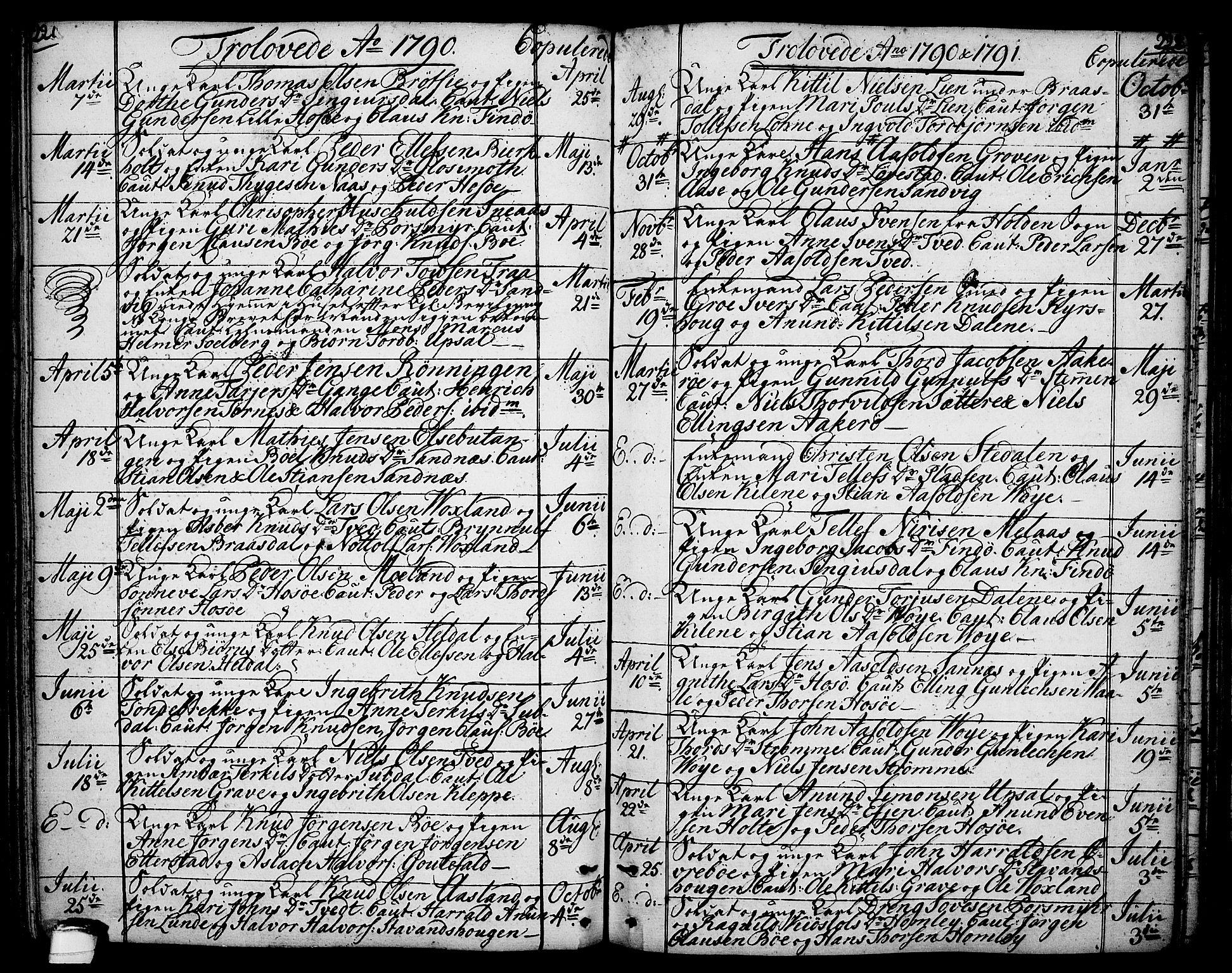 SAKO, Drangedal kirkebøker, F/Fa/L0003: Ministerialbok nr. 3, 1768-1814, s. 221-222