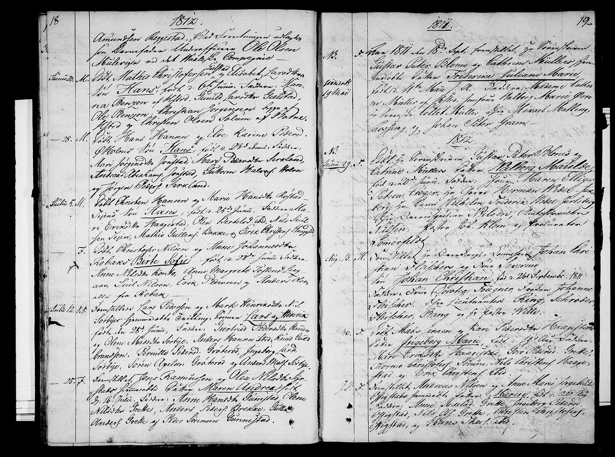 SAKO, Våle kirkebøker, F/Fa/L0006: Ministerialbok nr. I 6, 1808-1814, s. 18-19