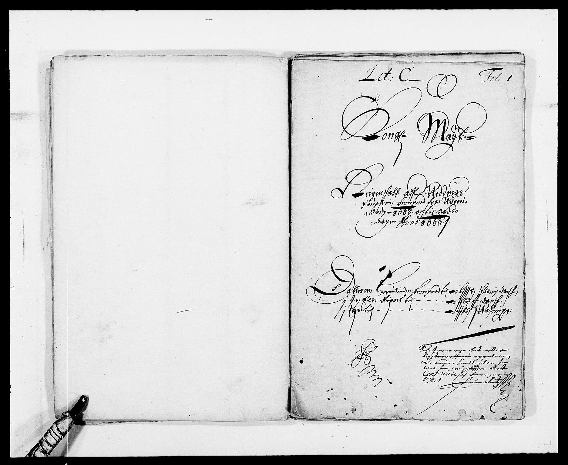 RA, Rentekammeret inntil 1814, Reviderte regnskaper, Fogderegnskap, R39/L2296: Fogderegnskap Nedenes, 1664-1666, s. 36
