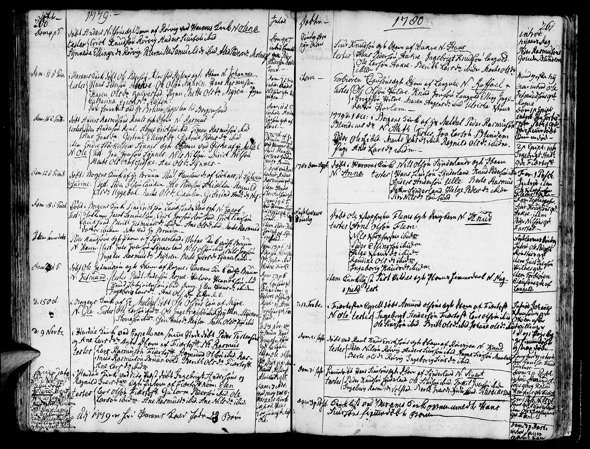SAT, Ministerialprotokoller, klokkerbøker og fødselsregistre - Møre og Romsdal, 536/L0493: Ministerialbok nr. 536A02, 1739-1802, s. 260-261