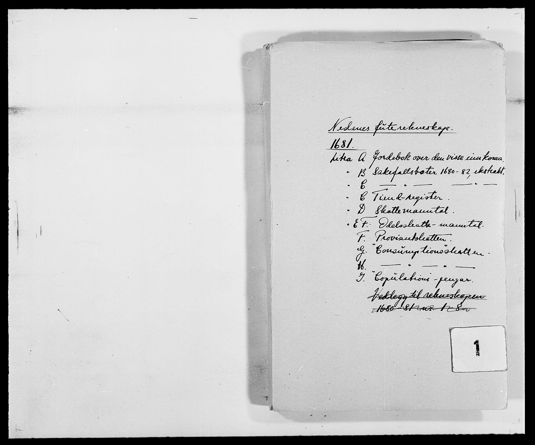 RA, Rentekammeret inntil 1814, Reviderte regnskaper, Fogderegnskap, R39/L2304: Fogderegnskap Nedenes, 1680-1682, s. 147