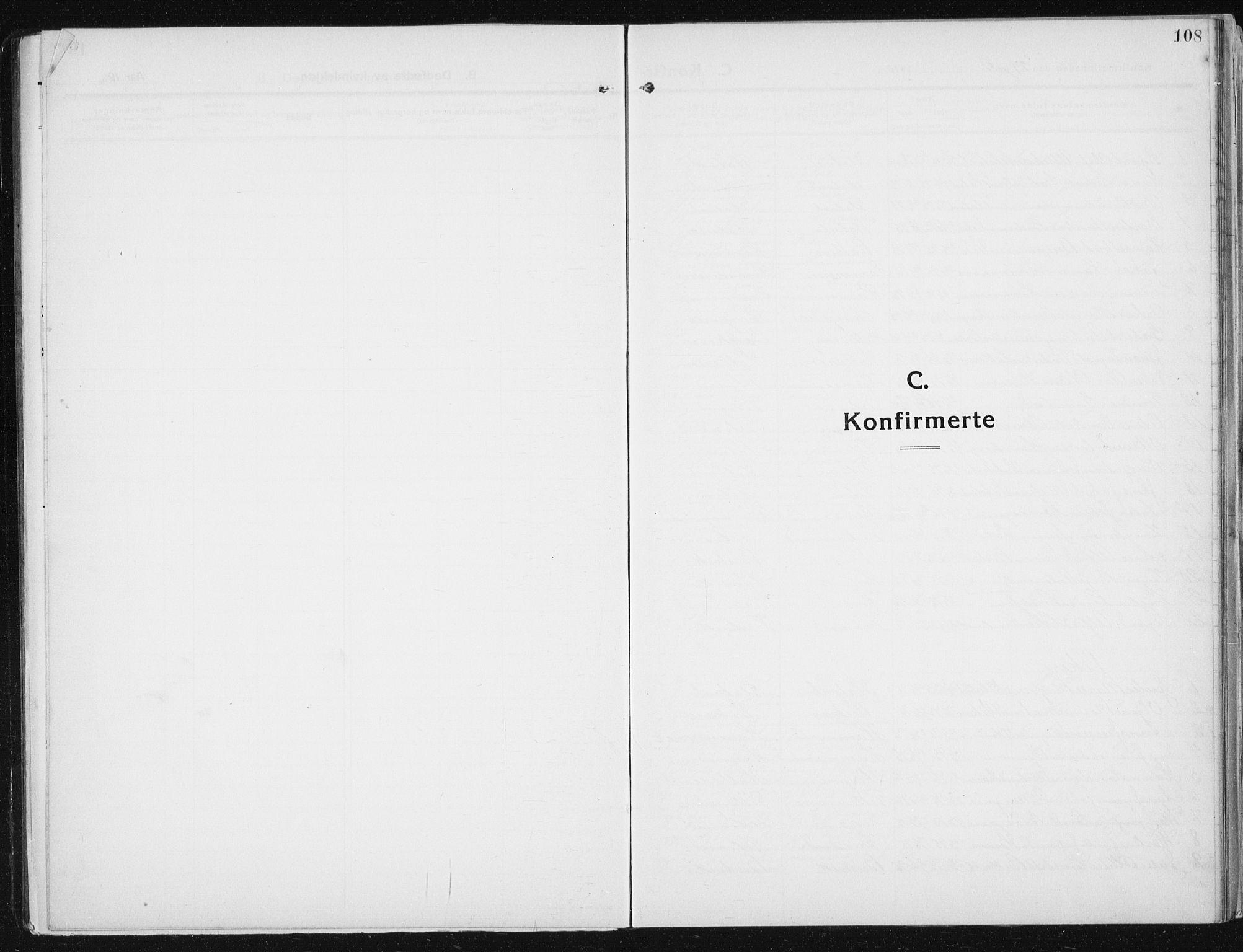 SAT, Ministerialprotokoller, klokkerbøker og fødselsregistre - Sør-Trøndelag, 641/L0599: Klokkerbok nr. 641C03, 1910-1938, s. 108
