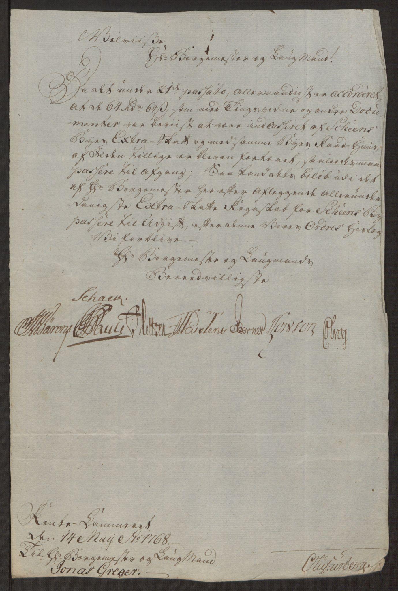 RA, Rentekammeret inntil 1814, Reviderte regnskaper, Byregnskaper, R/Rj/L0198: [J4] Kontribusjonsregnskap, 1762-1768, s. 470