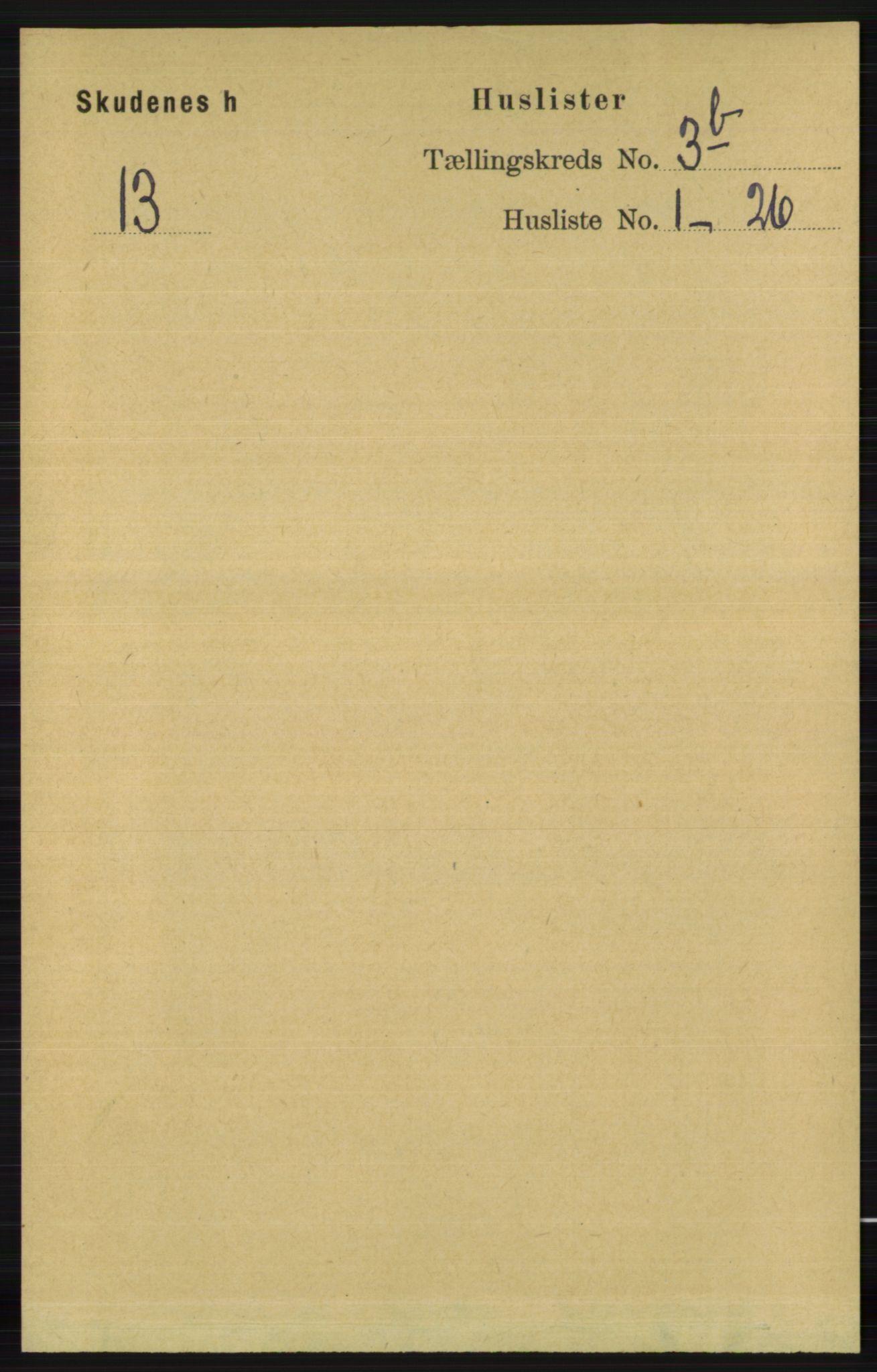 RA, Folketelling 1891 for 1150 Skudenes herred, 1891, s. 1611
