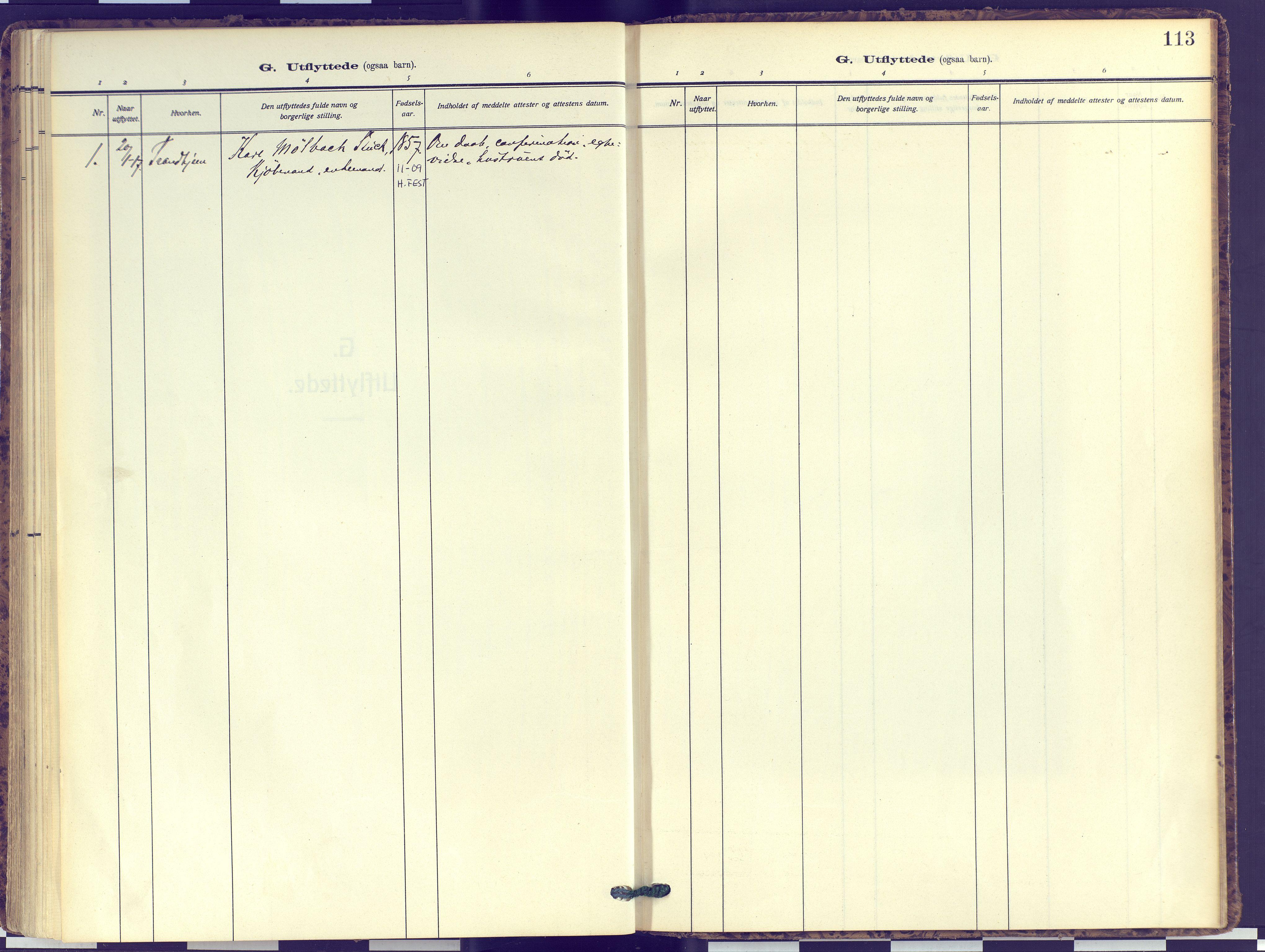 SATØ, Hammerfest sokneprestembete, Ministerialbok nr. 16, 1908-1923, s. 113